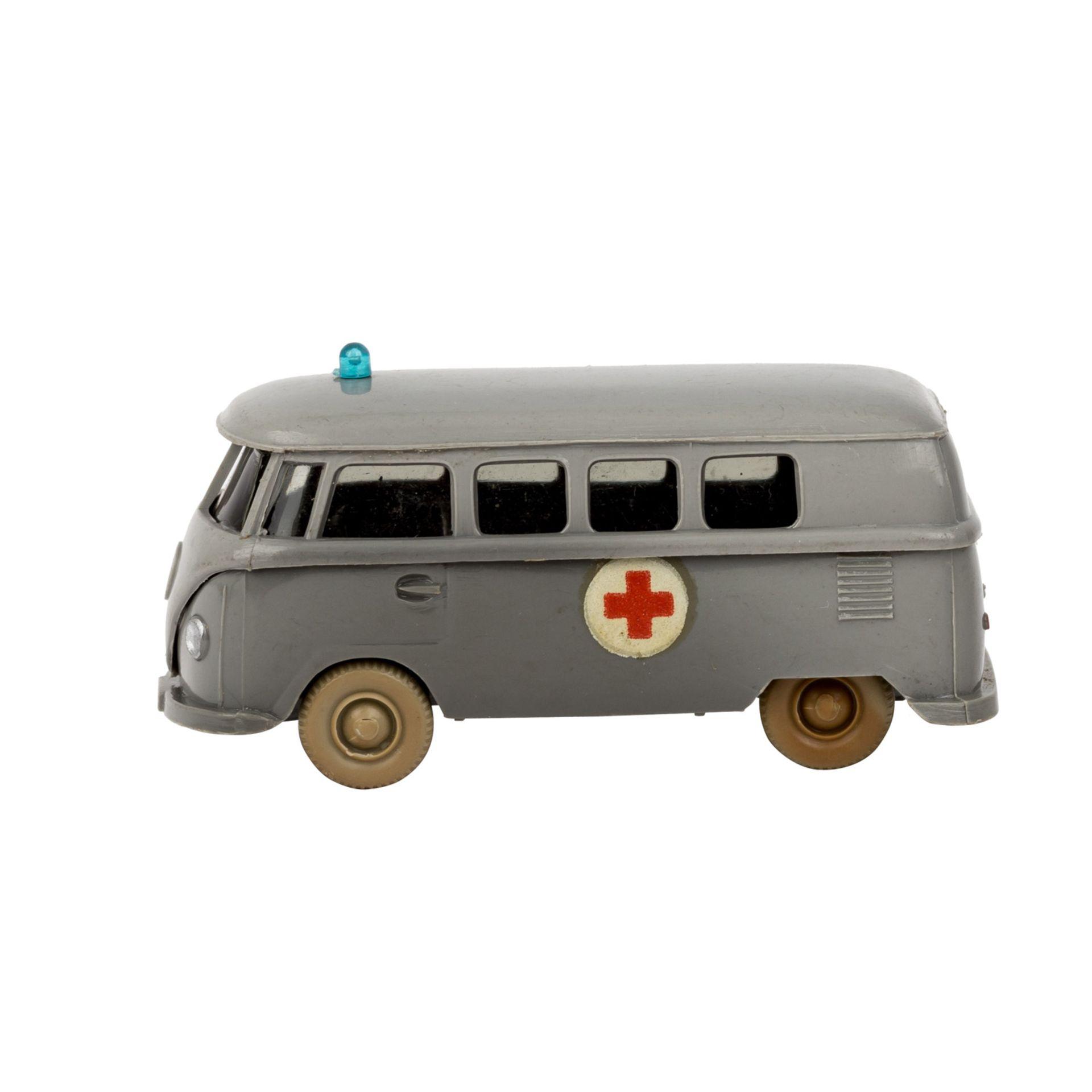 WIKING VW Bus 'T1, Rotkreuz', 1961-65,staubgraue Karosserie, 'Rotkreuz'-Emblem als Abz - Image 2 of 5