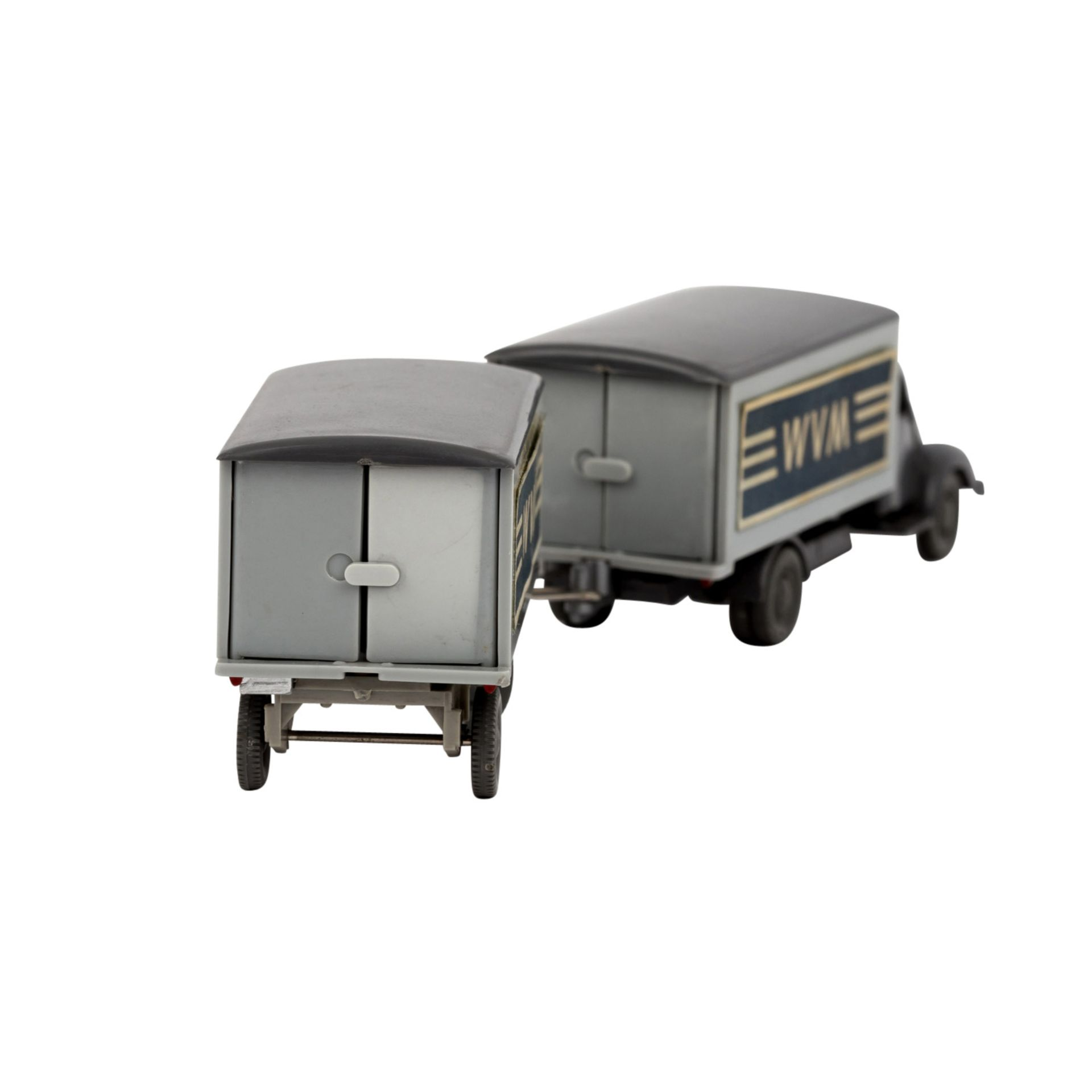 WIKING Magirus WVM, alter Koffer-LKW mit Anhänger 1961-62,LKW und Anhänger mit basal - Image 3 of 5