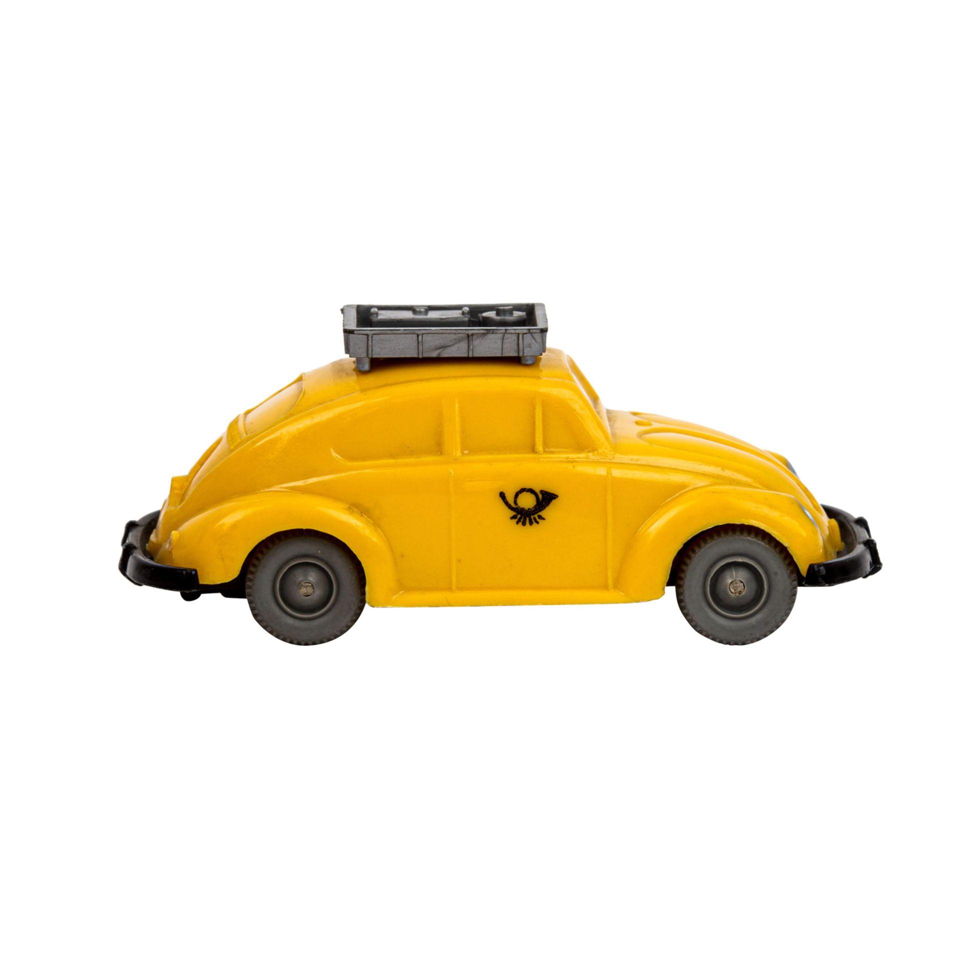 WIKING VW Käfer 'Postwagen', 1963-67,unverglaster Rollachser, gelbe Karosserie mit si - Image 4 of 5