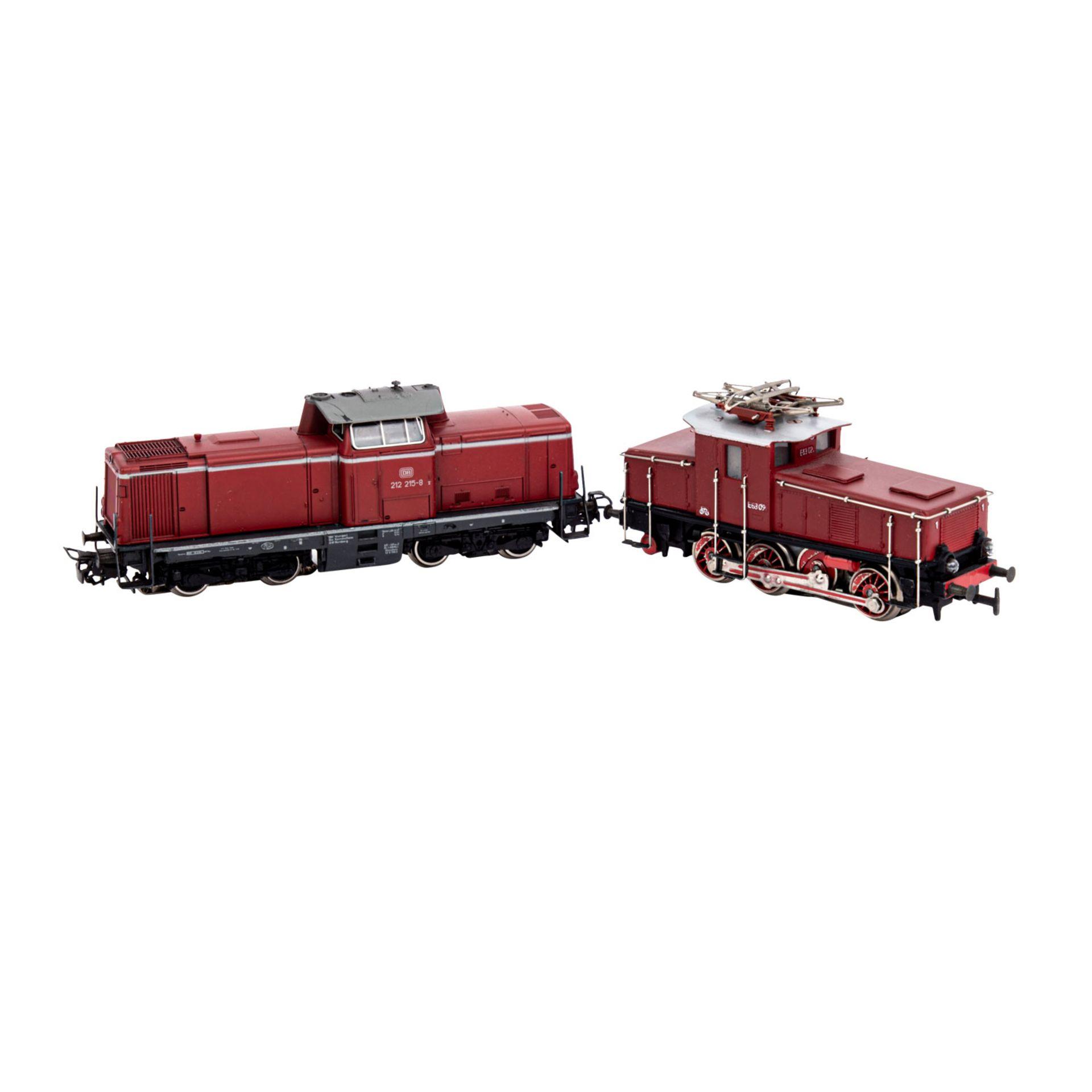 MÄRKLIN Konvolut zweier Lokomotiven und Wagensets, Spur H0,bestehend aus weinroter Di - Image 2 of 3