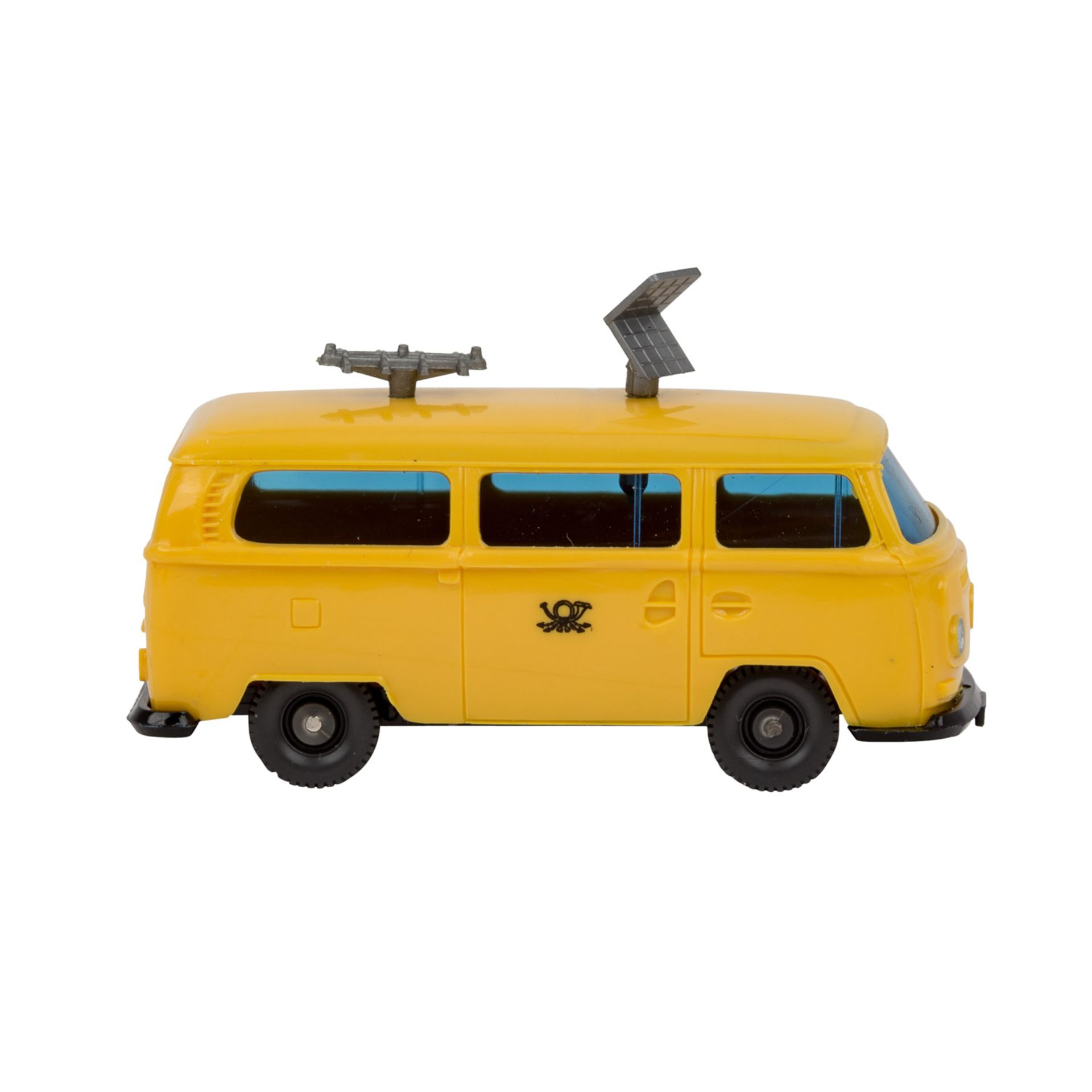 WIKING VW Bus T2 'Funkmesswagen', 1972-77,gelbe Karosserie, blaugetönte Verglasung, s - Image 4 of 5