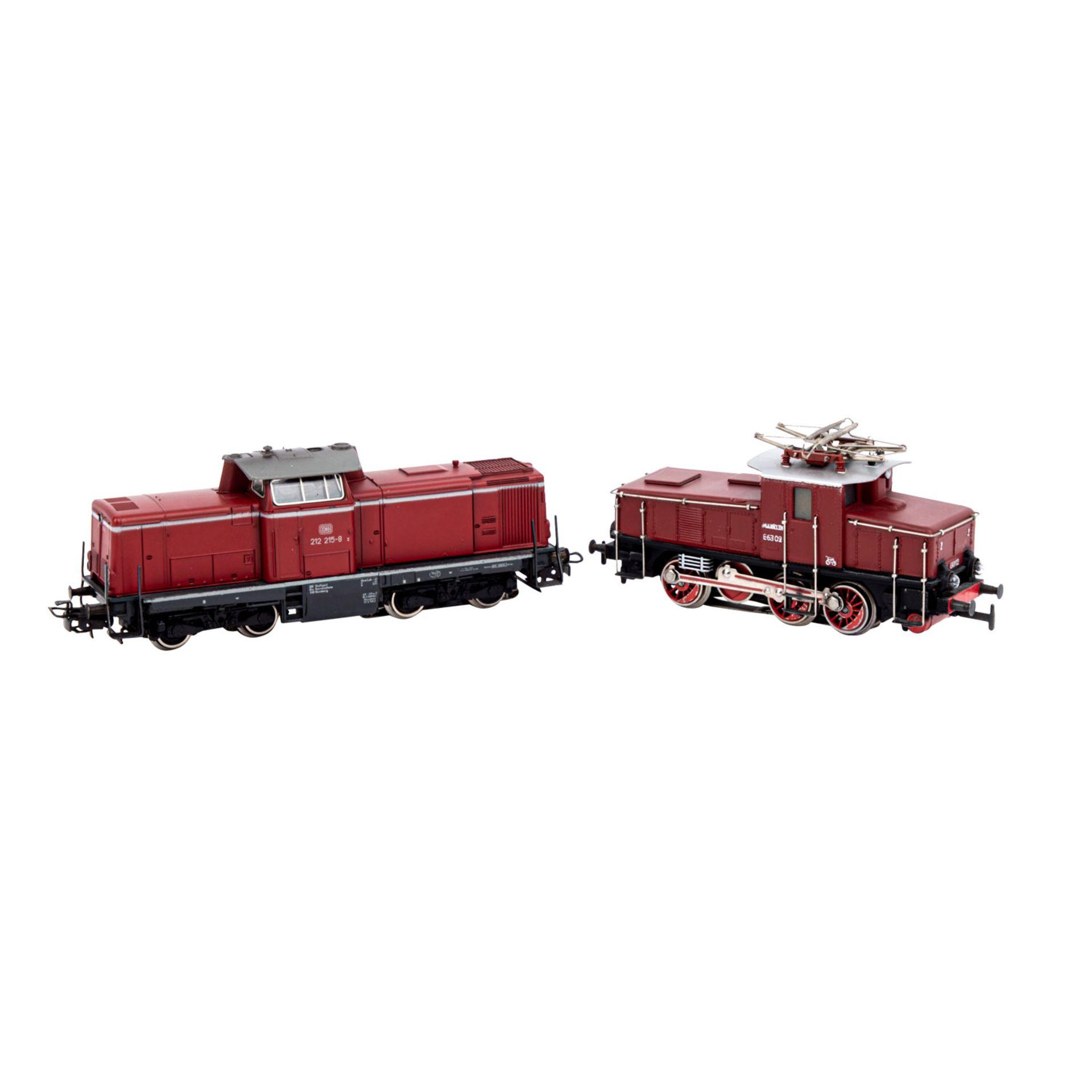 MÄRKLIN Konvolut zweier Lokomotiven und Wagensets, Spur H0,bestehend aus weinroter Di - Image 3 of 3