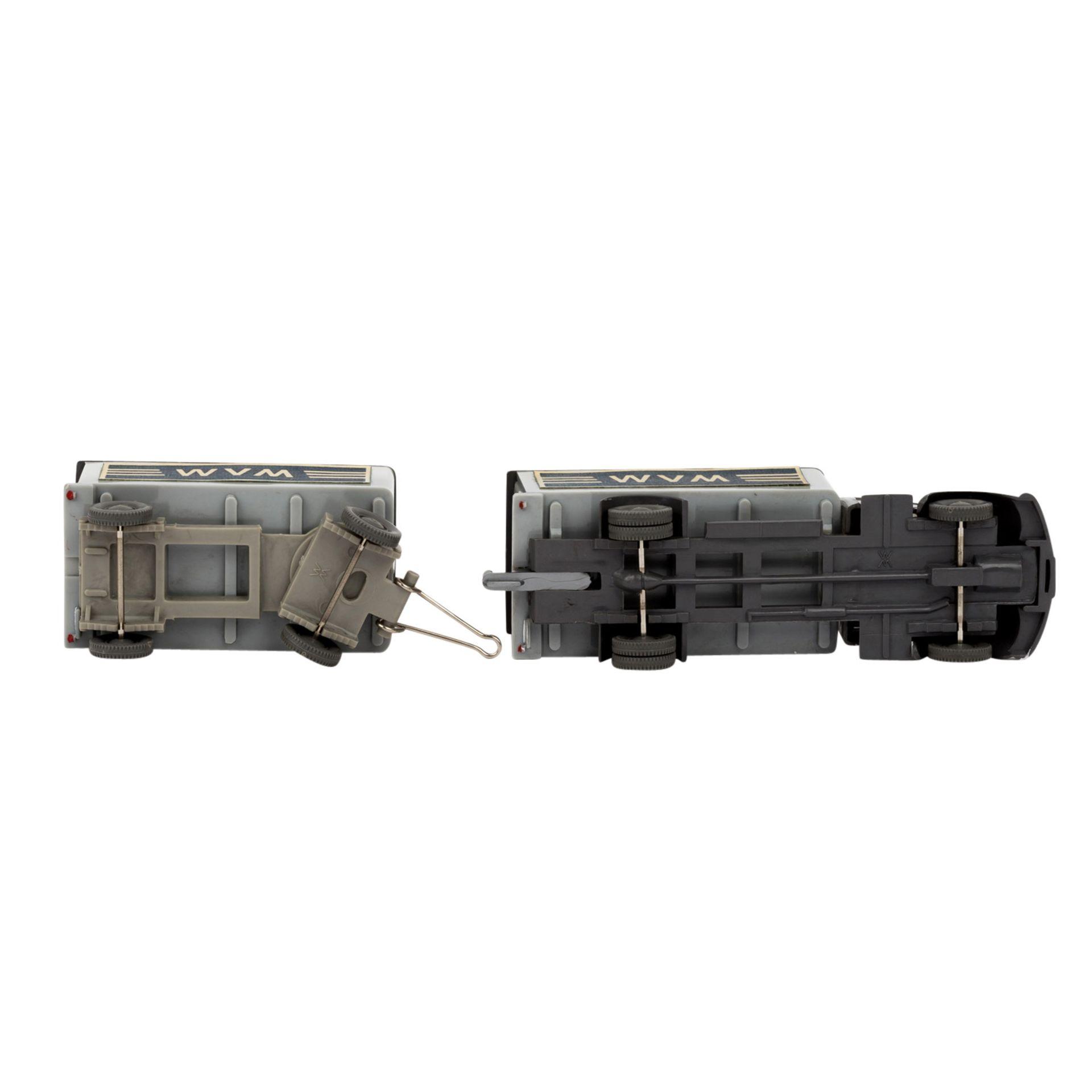 WIKING Magirus WVM, alter Koffer-LKW mit Anhänger 1961-62,LKW und Anhänger mit basal - Image 5 of 5