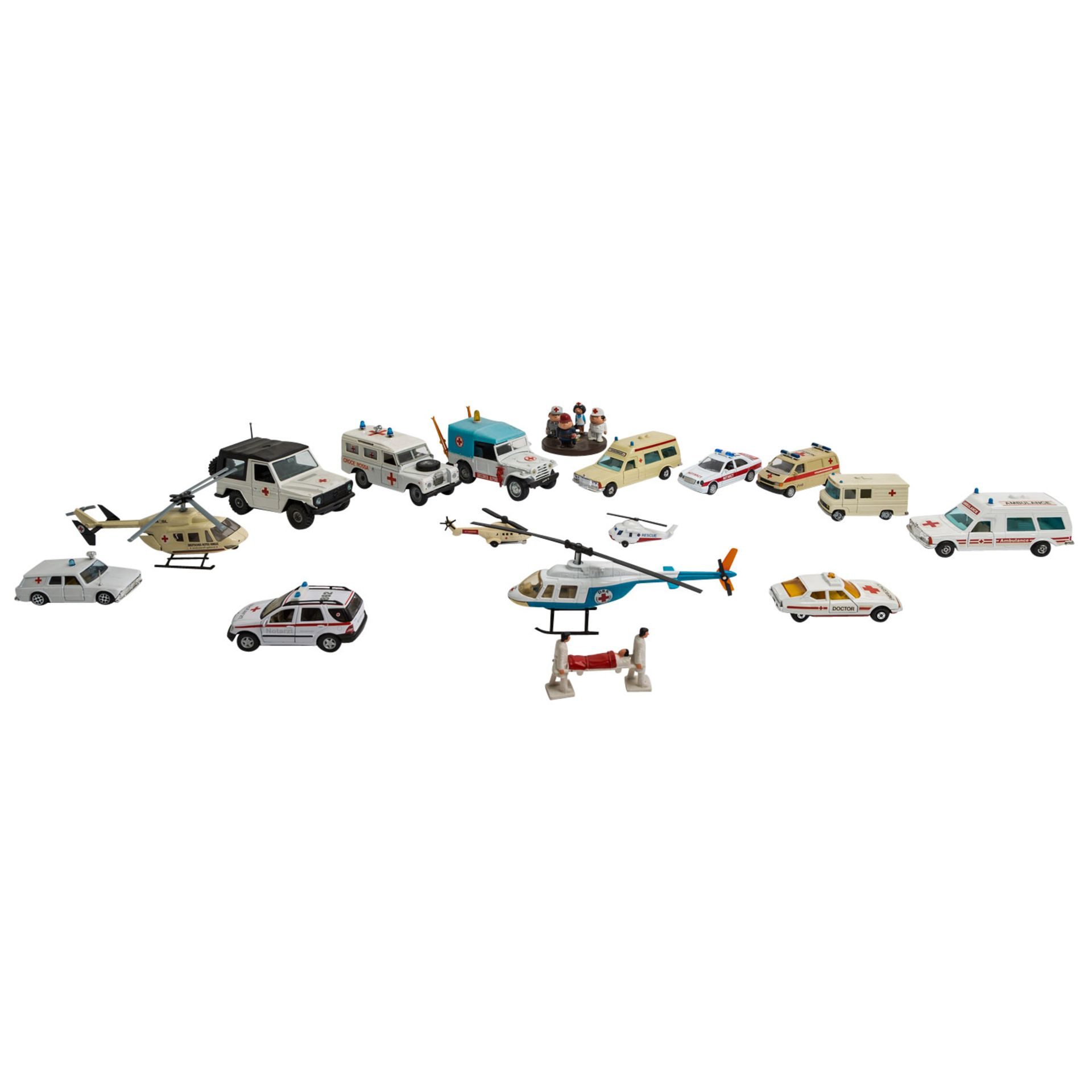 MATCHBOX/WIKING/HERPA u.v.a. Konvolut von ca. 100 Rettungsdienst-Modellfahrzeugen im Maßstab 1:87 bi - Image 4 of 7