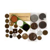 Medaillen - Interessante Zusammenstellung mitu.a. rechteckige Medaille mit symbolische
