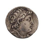 Ptolemaer - Tetradrachme 2./1.Jh.v.Chr,Av: Kopf des Ptolemaios mit Diadem n.r., Rv Adl