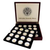 SILBERTRAUM Medaillen 1200 Jahre Deutsche Münze,48 Medaillen in Silber 999/1000 mit T