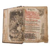 """Großformatige Lutherbibel, Anfang 18.Jh. -""""Biblia, Das ist: Die ganze Heilige Schrif"""