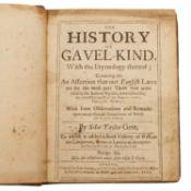 Rechtsgeschichte, England 17.Jh. -Silas Taylor Gent, The History of Gavelkind/Geschich