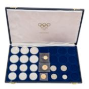 GOLD und SILBER - Thematik Olympia,6 x 10 Dollars und 6 x 5 Dollars Kanada Olympiade 1