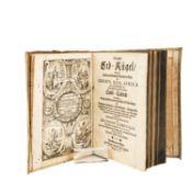 """Teil eines Kartenwerks, 17.Jh. -Sanson d' Abbeville, """"Die ganze Erdkugel bestehend in"""