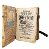 Großformatige Lutherbibel, Süddeutschland Anfang 18.Jh. -Titelblatt AT fehlt. Gewidm