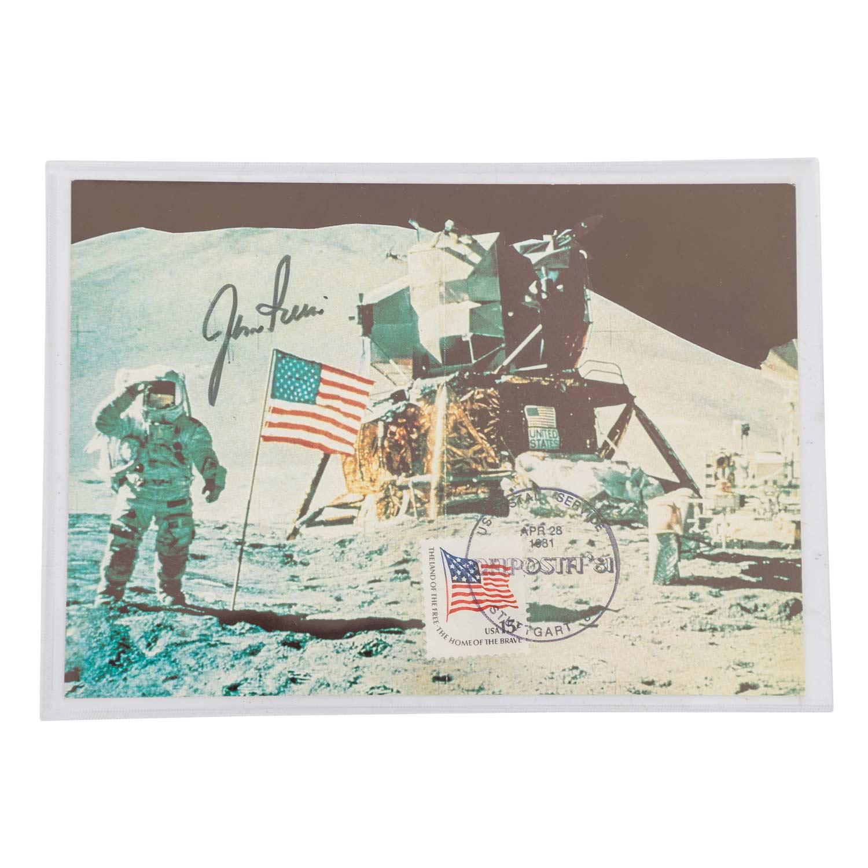 Motive WeltraumKarte mit Unterschrift James Irwin von der LUPOSTA 81. | Motifs