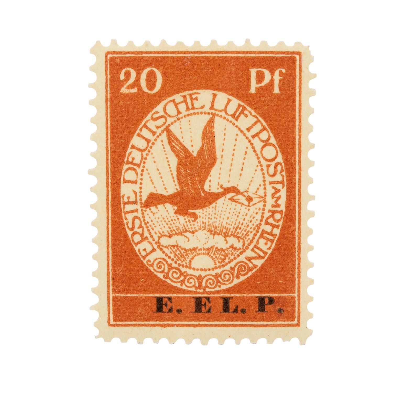 Dt. Kaiserreich 1912Mi-Nr. VI 20 Pf. mit echtem Aufdruck E. EL. P. in fehlerfreier, po