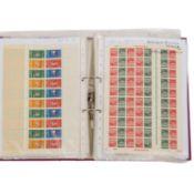 BRD / Berlin - Sammlung von Teilbögen, auschliesslich Freimarken, dabei Druckerzeiche