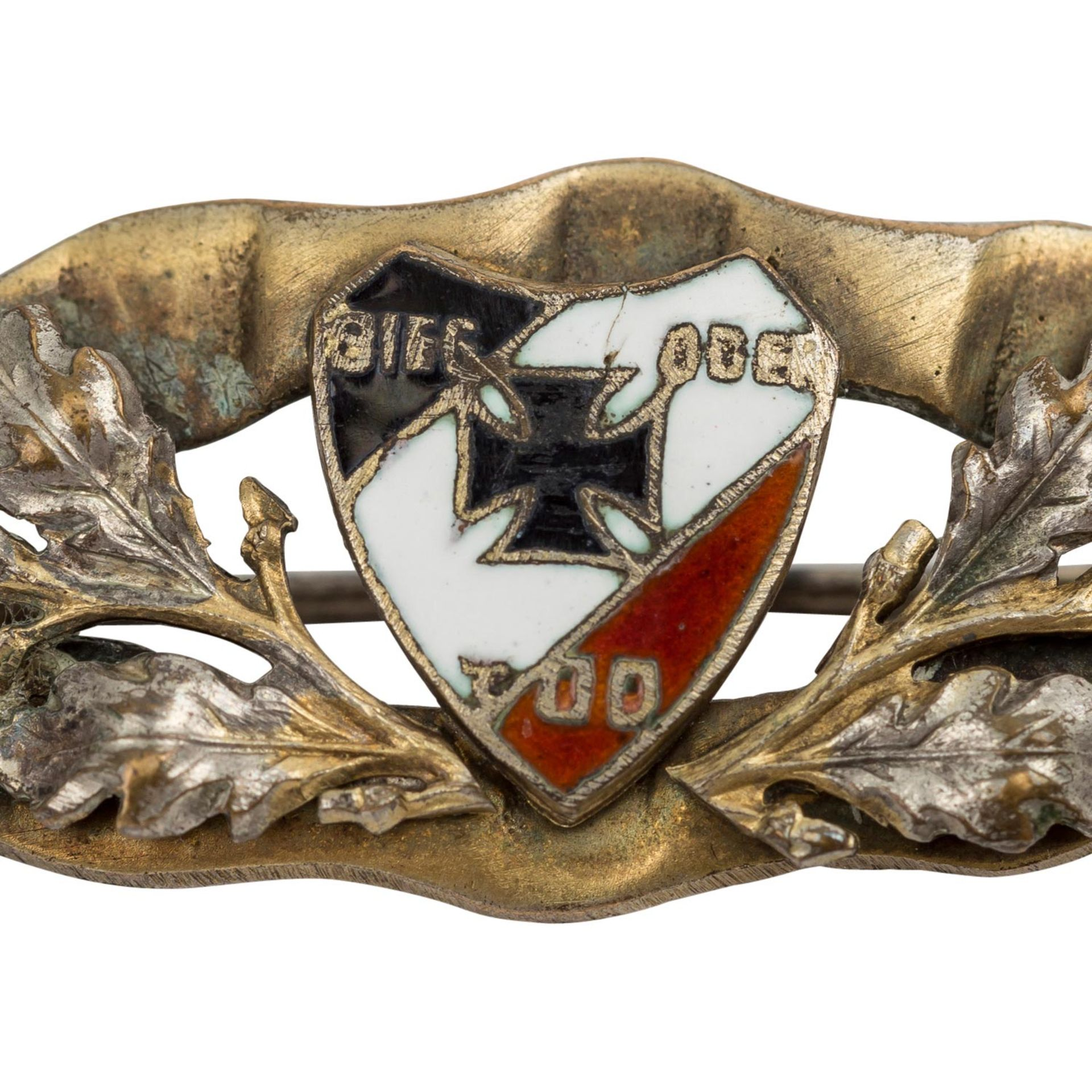 Deutsches Reich 1933-1945 - Silberfarbene Brosche - Image 2 of 2
