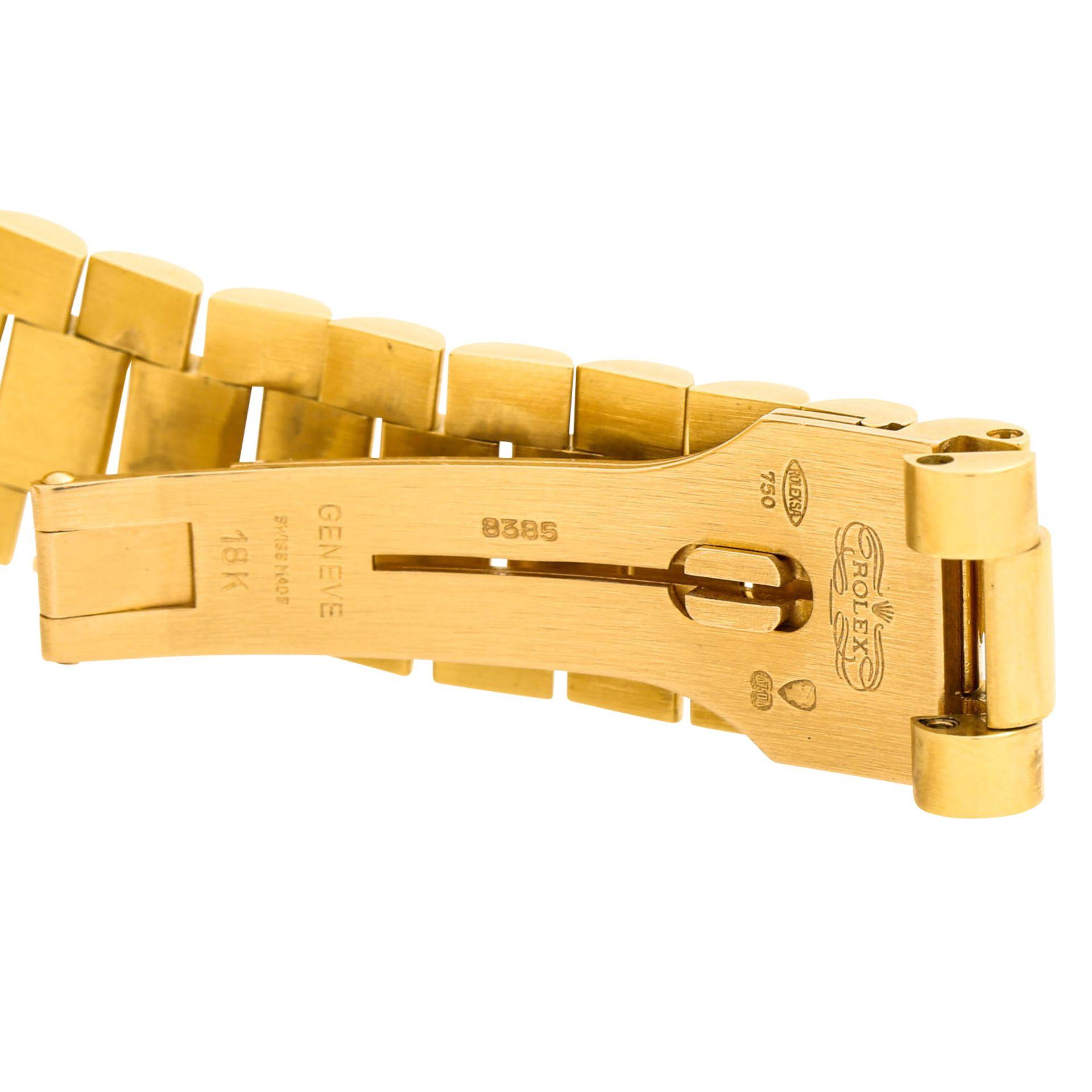 "ROLEX Vintage DayDate ""Sternenhimmel"", Ref. 18038. Armbanduhr. Gold 18K, Ziffernblatt - Image 6 of 8"