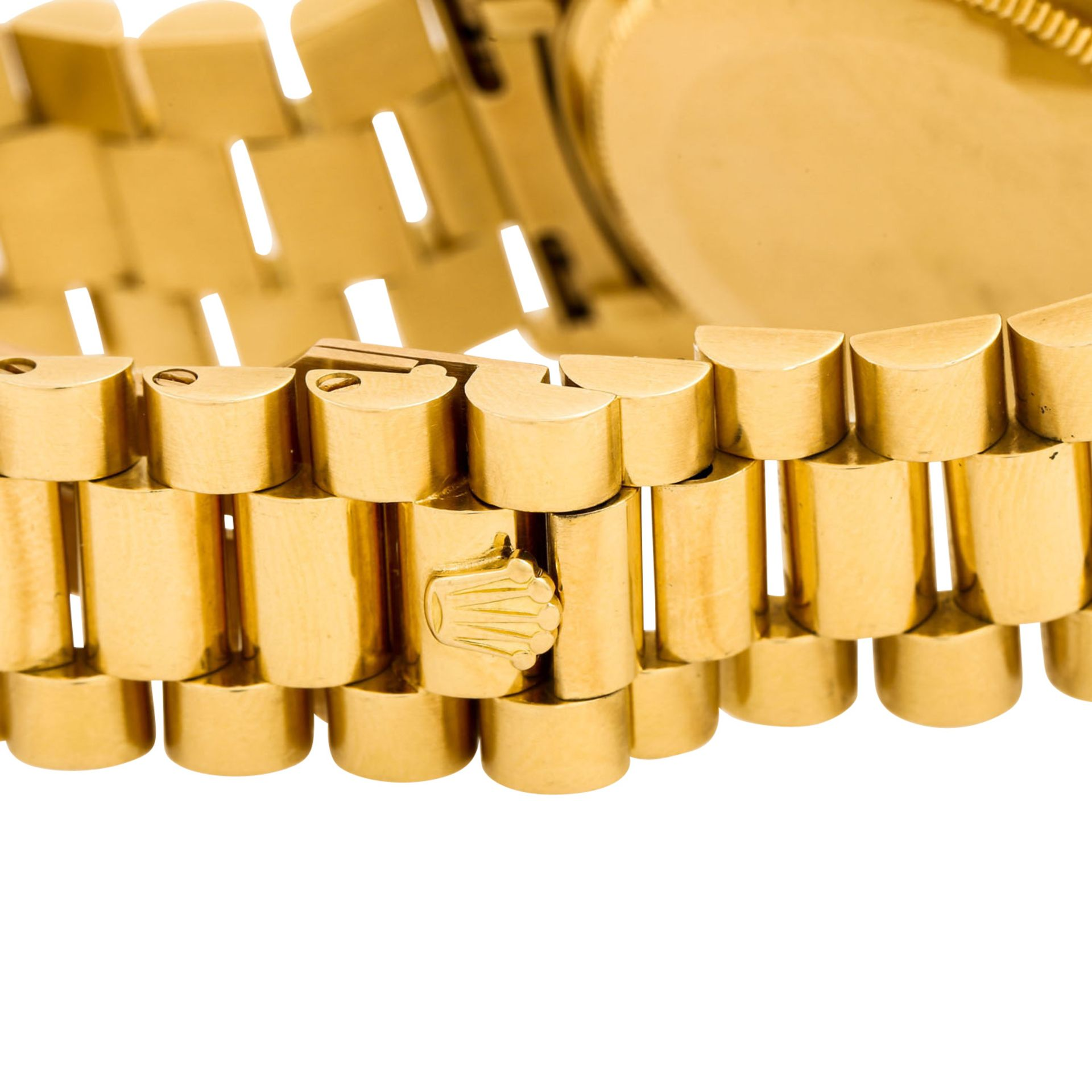 "ROLEX Vintage DayDate ""Sternenhimmel"", Ref. 18038. Armbanduhr. Gold 18K, Ziffernblatt - Image 8 of 8"