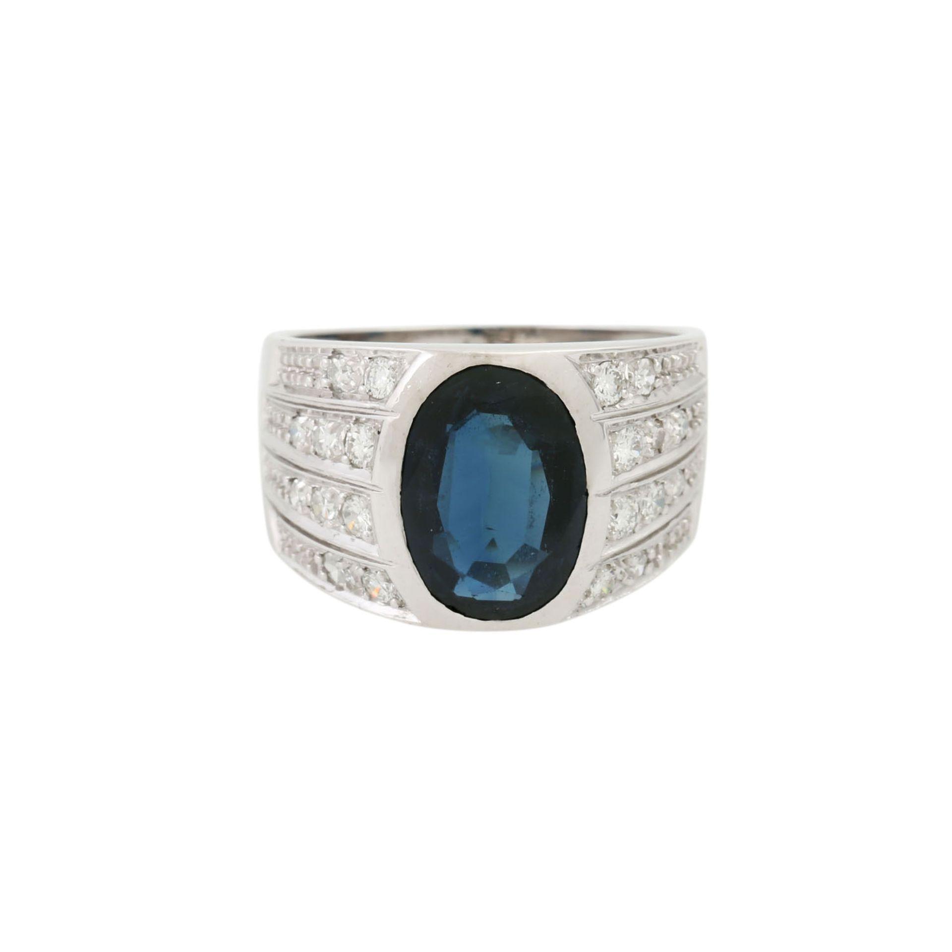 Ring mit Saphir und Diamanten - Image 2 of 4
