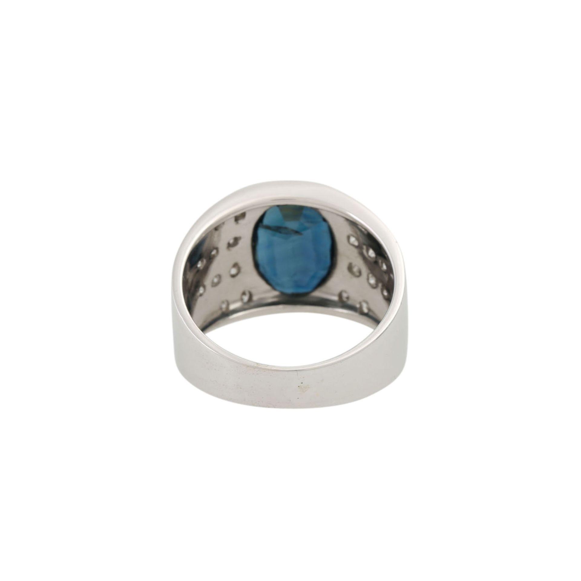Ring mit Saphir und Diamanten - Image 4 of 4