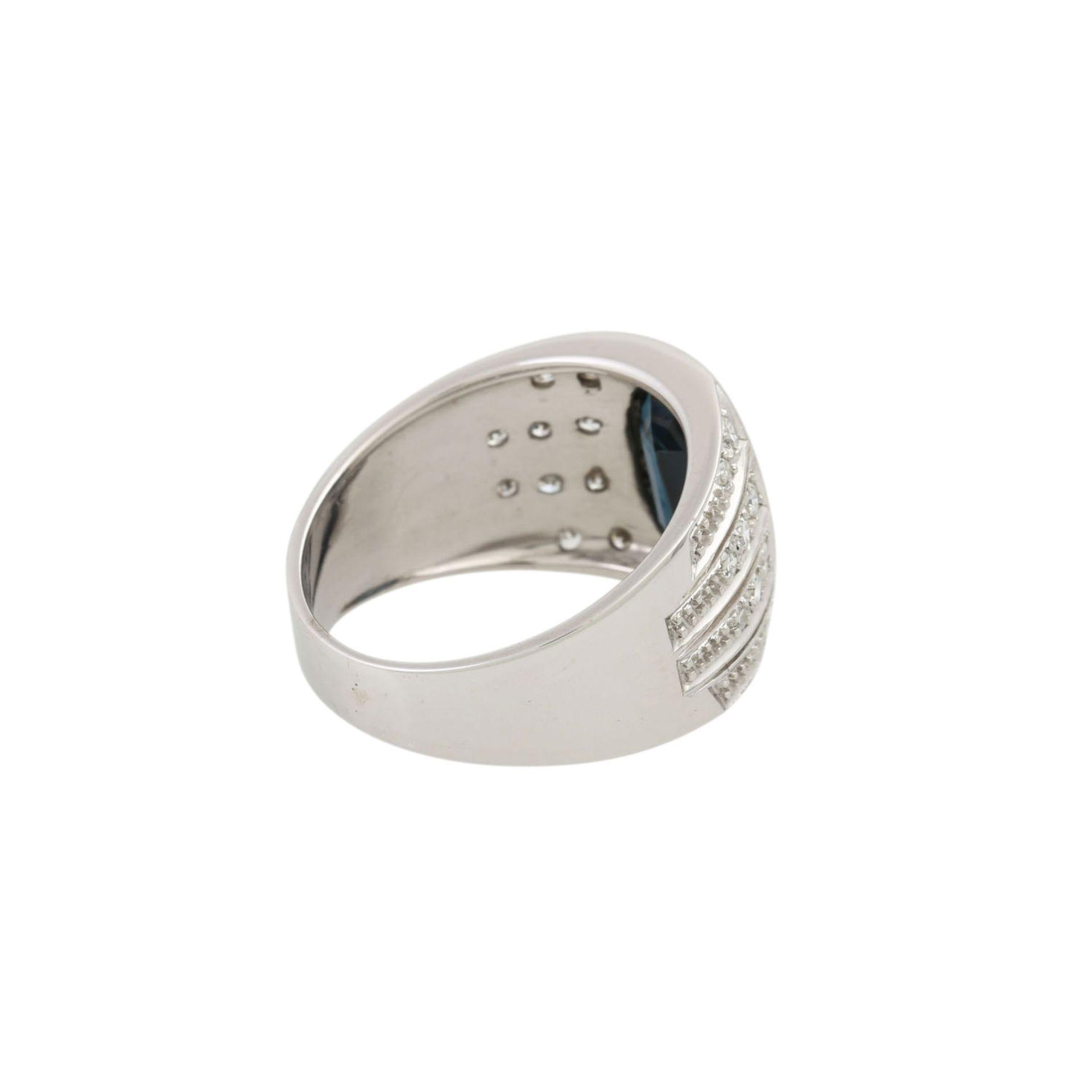 Ring mit Saphir und Diamanten - Image 3 of 4