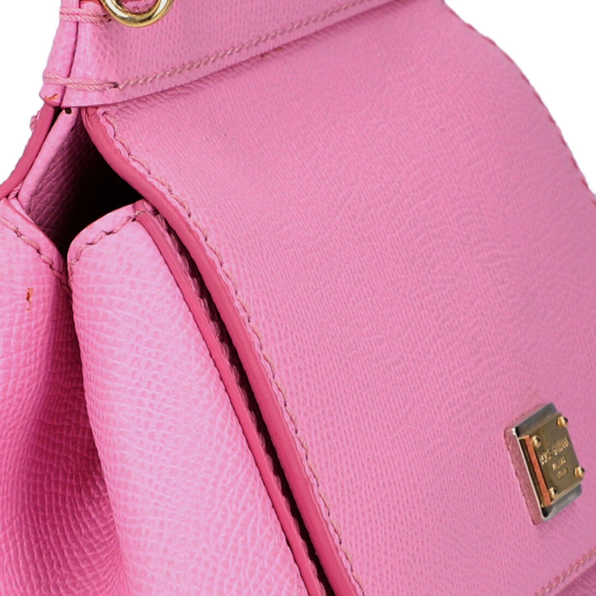 "DOLCE & GABBANA Handtasche ""MINI SICILY"", akt. NP.: 1.150,-€.Fein genarbtes Leder in - Image 8 of 8"