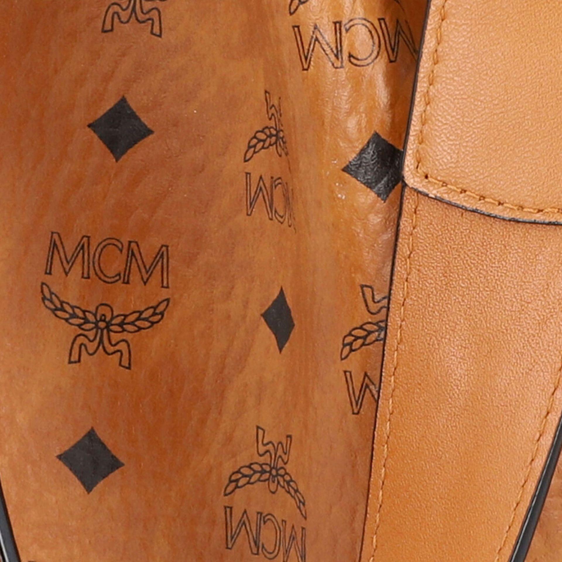 "MCM Beuteltasche ""DRAWSTRING SMALL"", NP. ca.: 750,-€.Heritage Serie auf cognacfarben - Image 7 of 8"