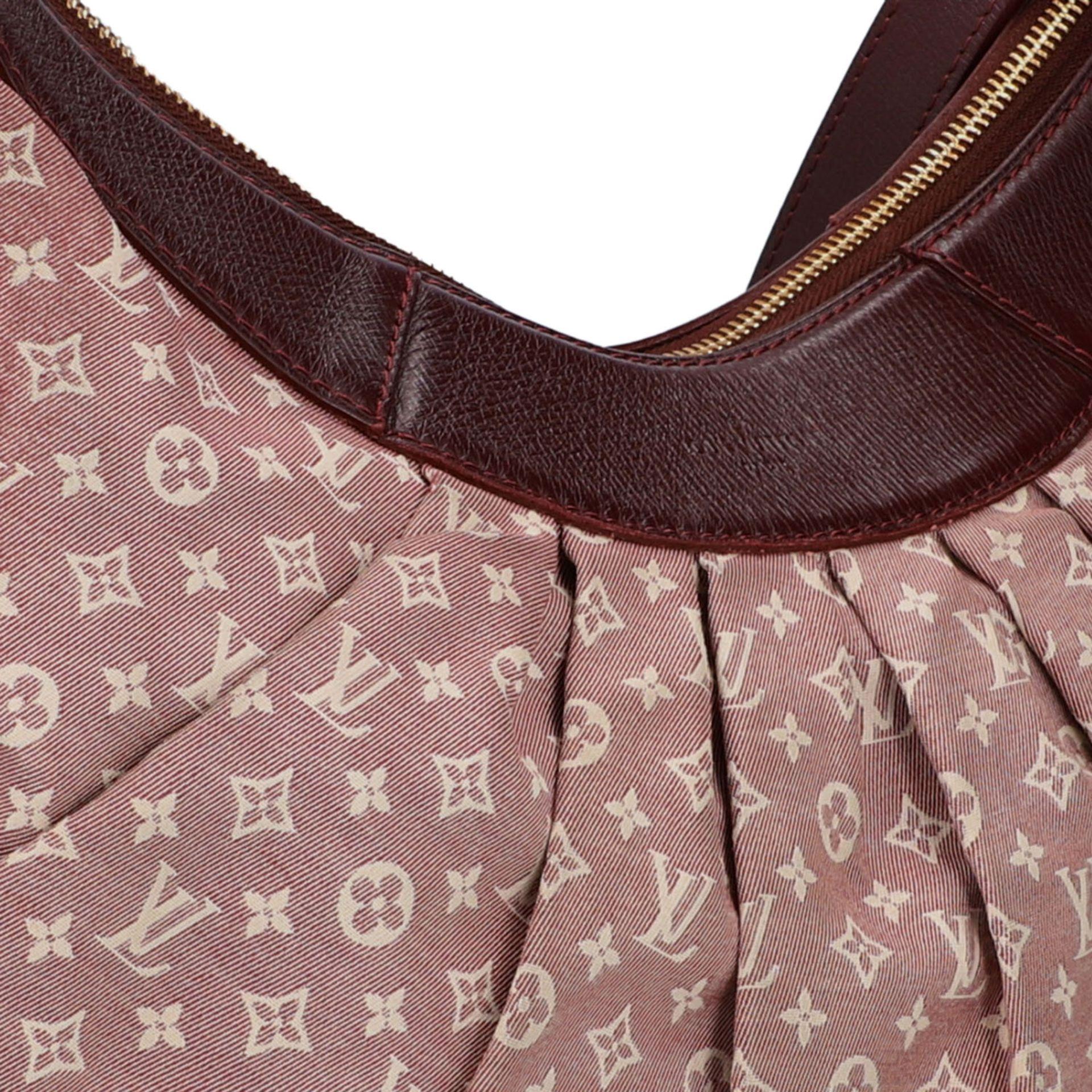 "LOUIS VUITTON Hobobag ""MANON PM"", Koll.: 2010.Mini Lin Serie in Bordeaux, Lederdetails - Image 8 of 8"