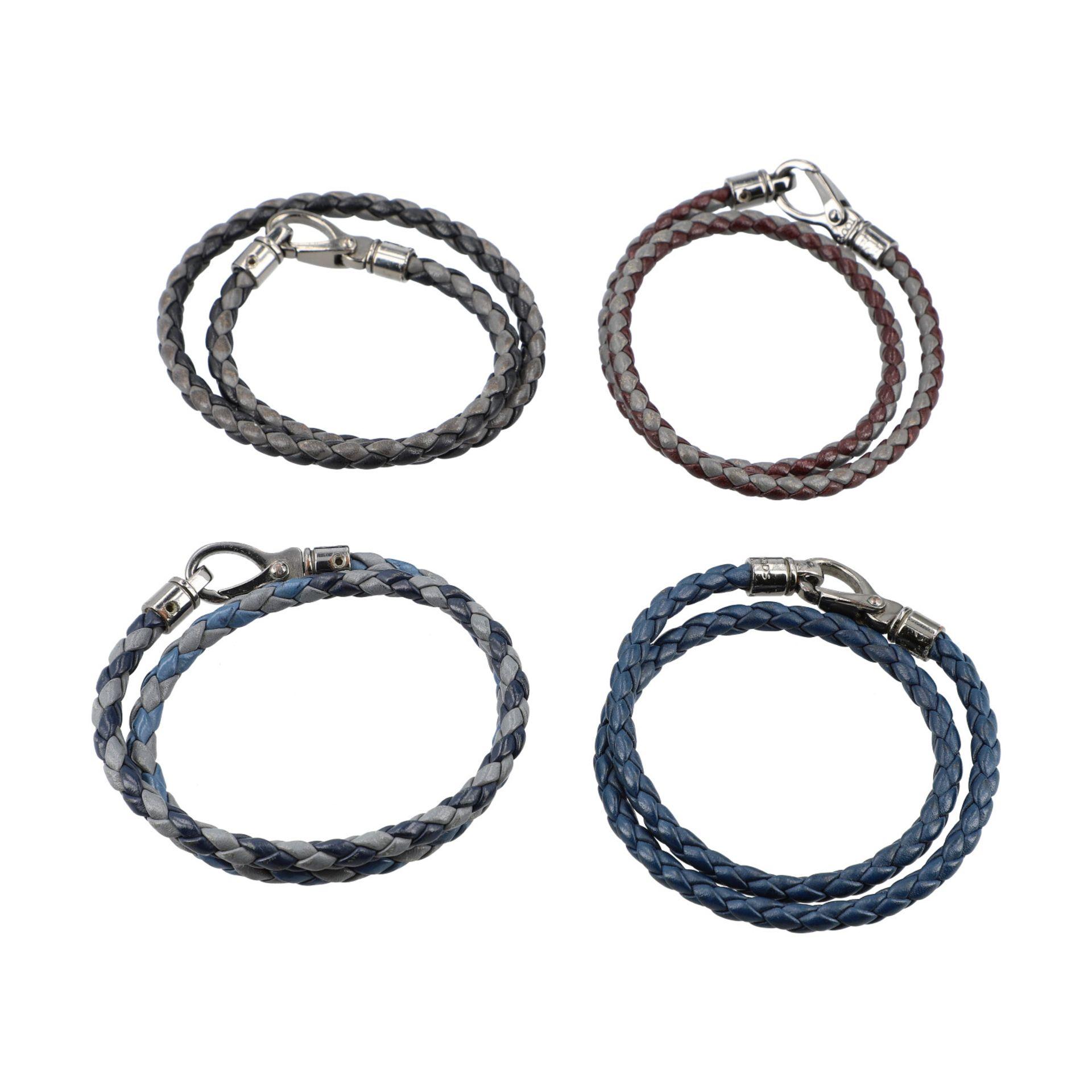 TOD´S Armbänder / Wickelarmbänder, NP. je ca.: 155,-€. 4x Geflochtenes Leder mit