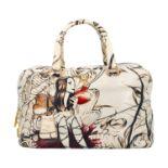 """PRADA Handtasche """"BAULETTO BAG"""", Koll. 2008. Limited Edition Prugna Cervo Lux Leder mi"""