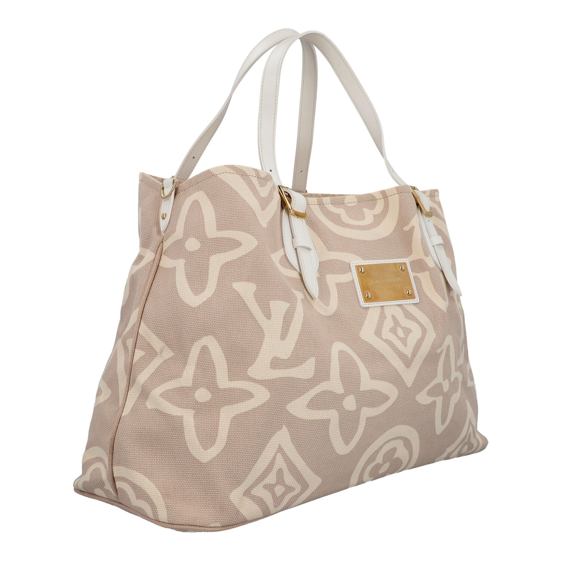 "LOUIS VUITTON Shopper ""TAHITIENNE GM"", Koll.: 2008 Designed by Marc Jacobs, inspiriert - Image 2 of 9"