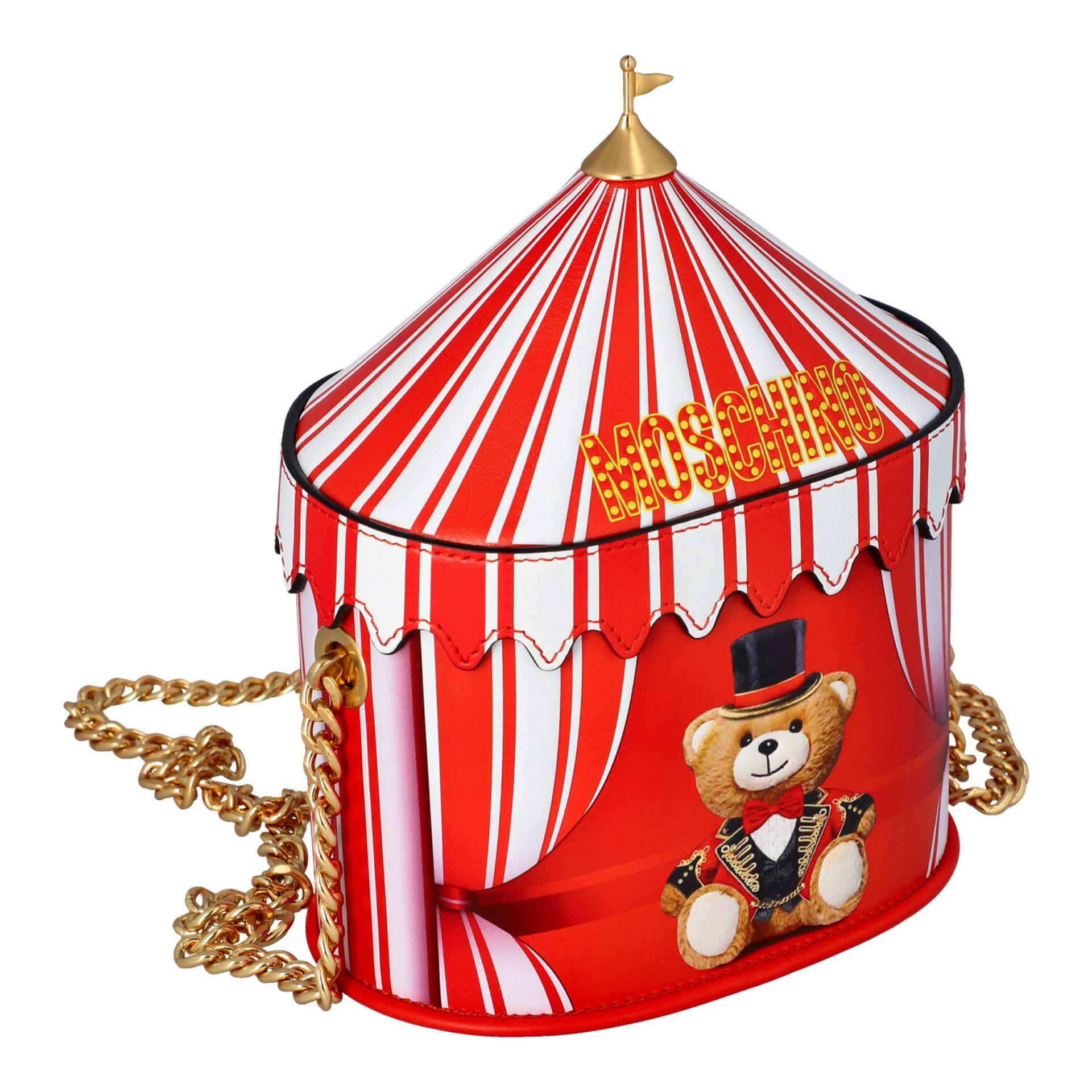 """MOSCHINO COUTURE Handtasche """"CIRCUS BAG"""", NP.: 1.100,-€. Kalbsleder in Zirkus-Zelt-D - Image 2 of 7"""