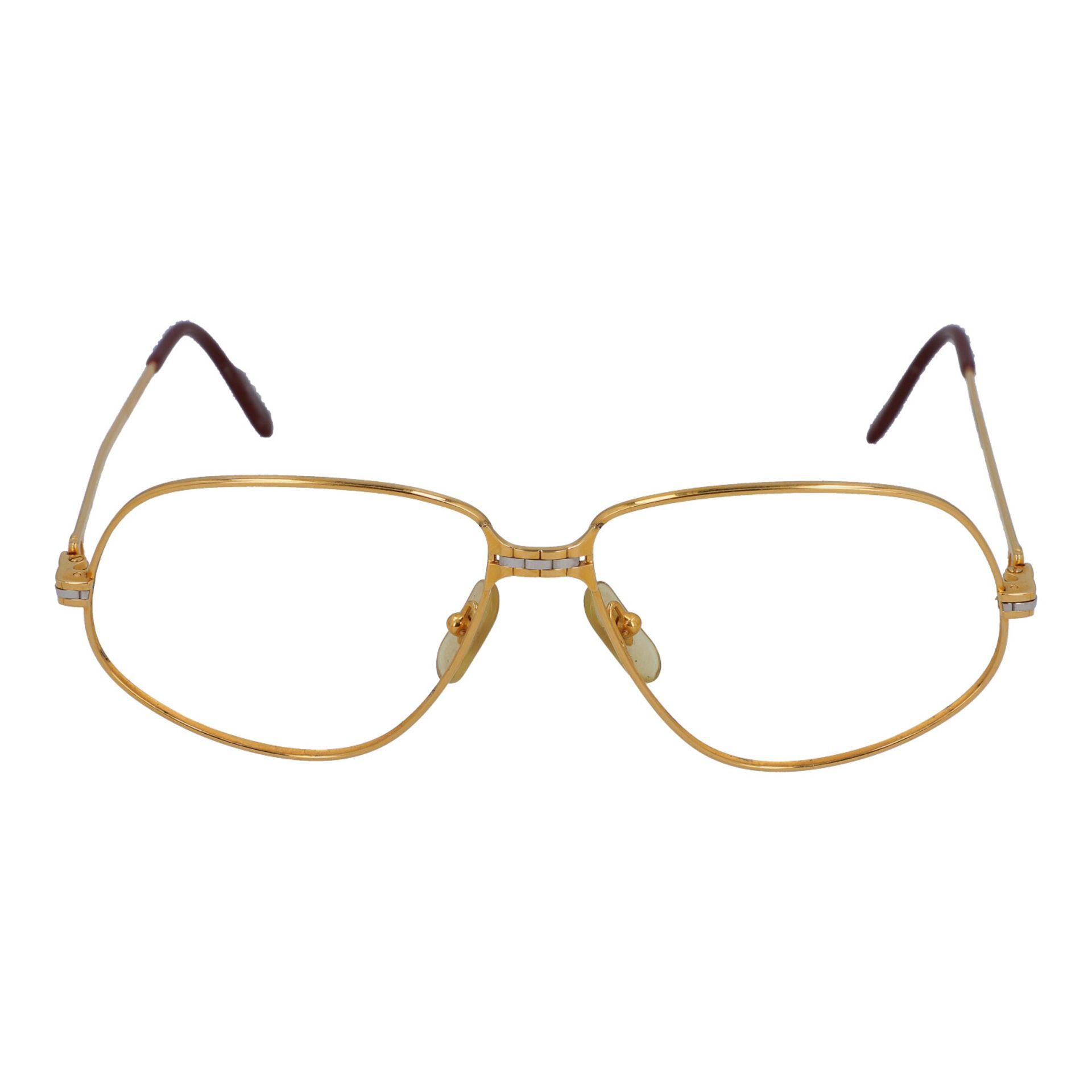 "CARTIER Brillengestell ""PANTHERE"", Koll.: 1988 in Paris. Vergoldetes Modell ohne Gläs"