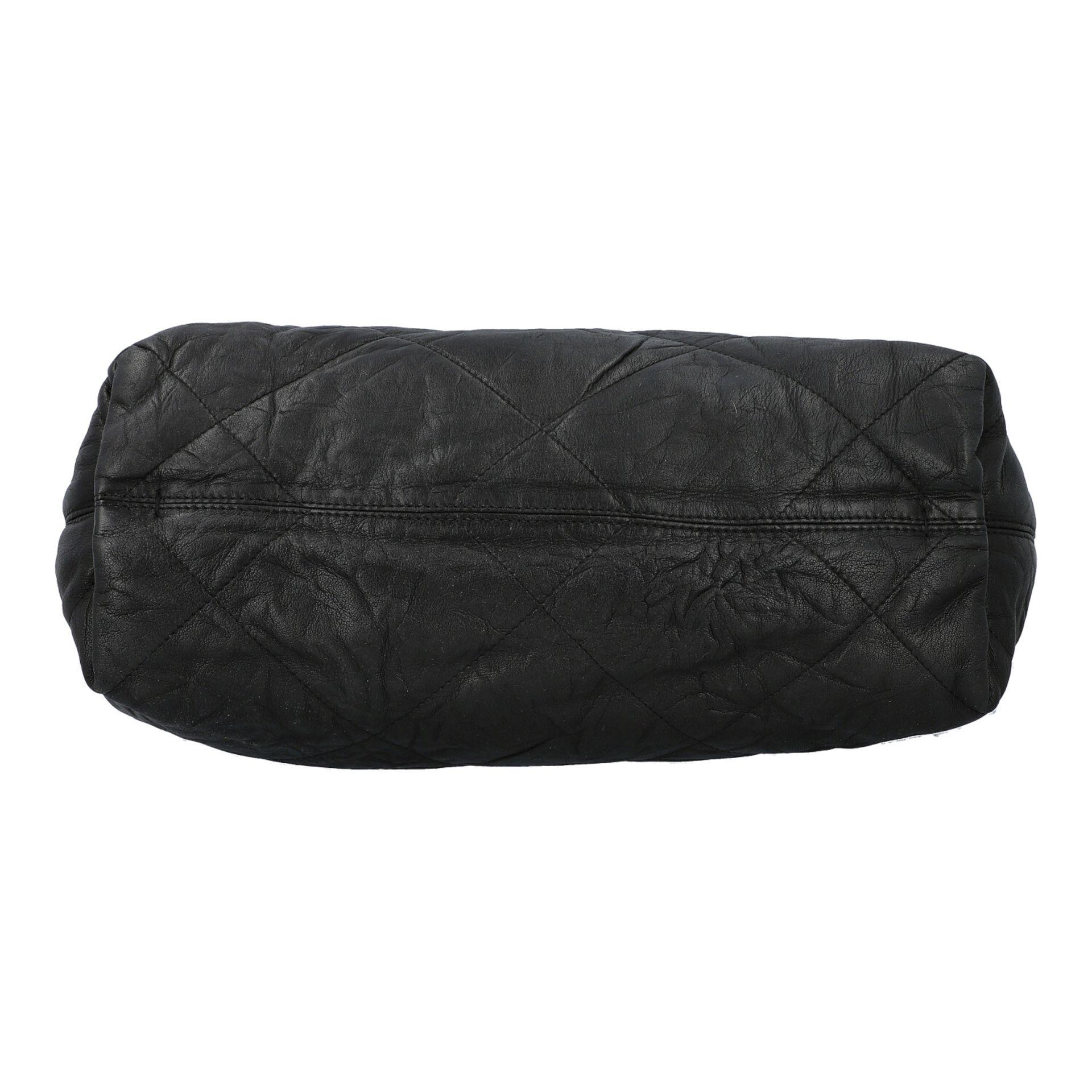 LANVIN Shoppertasche. Softes Leder in Schwarz mit Rautensteppung und dekorativen Trage - Image 5 of 8