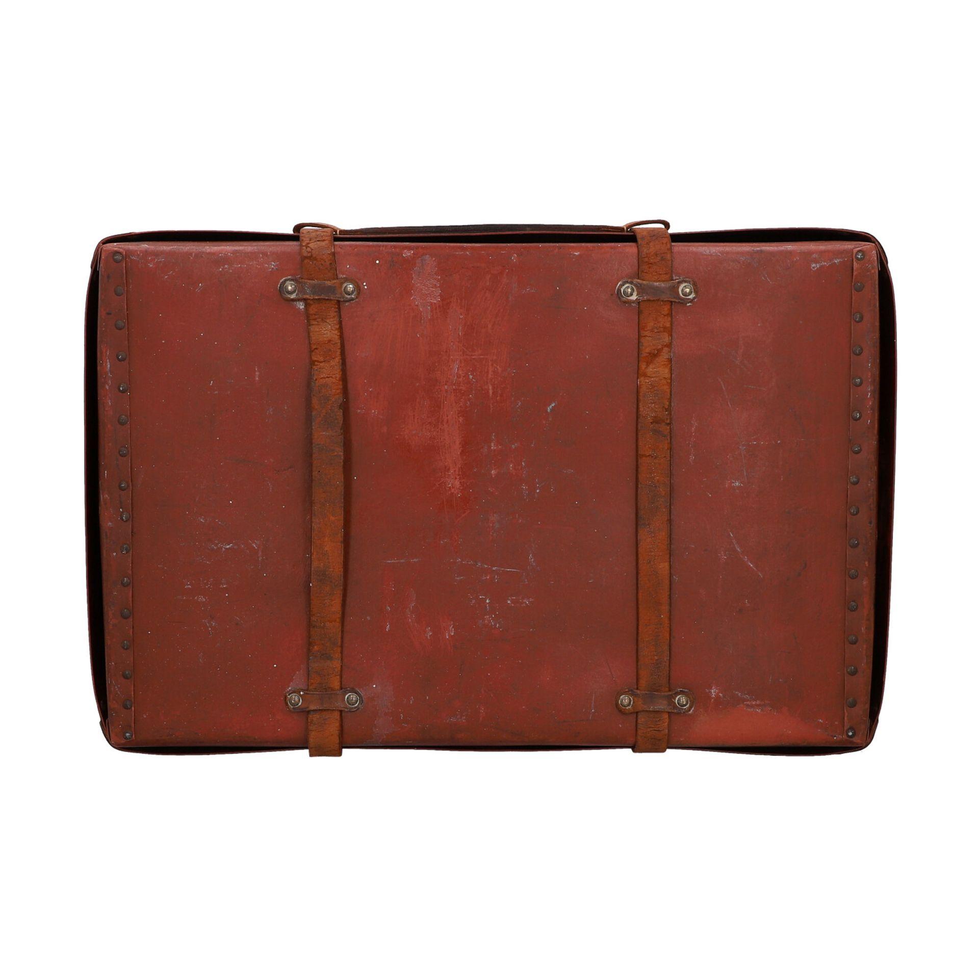 LOUIS VUITTON ANTIKER Reisekoffer, um 1900. Rarität - Sammlerstück! Mit eingravierte - Image 4 of 6