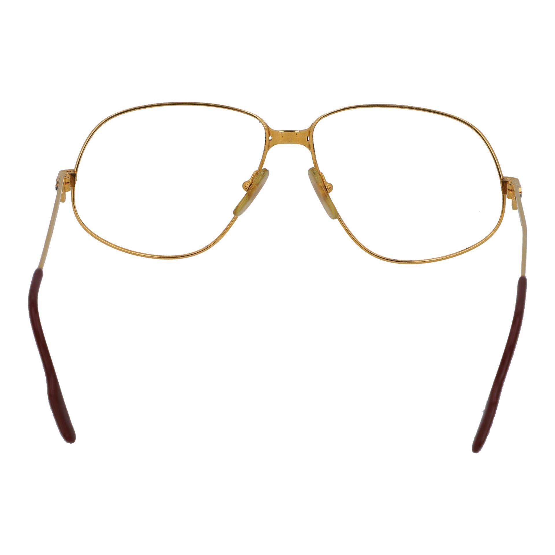 "CARTIER Brillengestell ""PANTHERE"", Koll.: 1988 in Paris. Vergoldetes Modell ohne Gläs - Image 4 of 4"