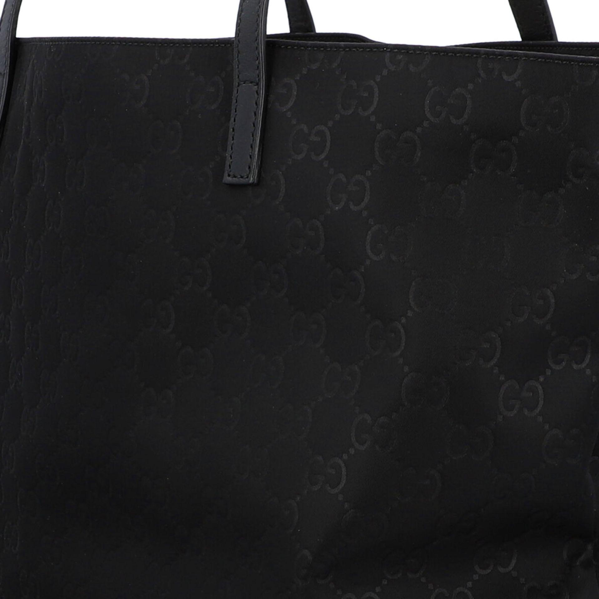GUCCI Shoppertasche, NP. ca.: 1.000,-€. Textil in Schwarz mit GG-Supreme Muster und - Image 7 of 8