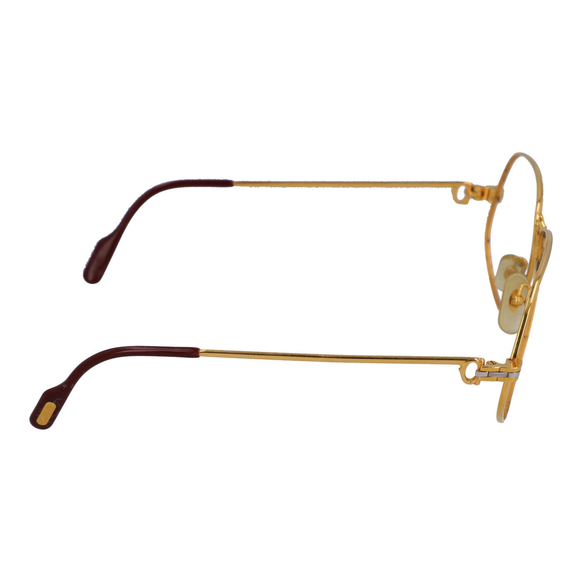 "CARTIER Brillengestell ""PANTHERE"", Koll.: 1988 in Paris. Vergoldetes Modell ohne Gläs - Image 3 of 4"