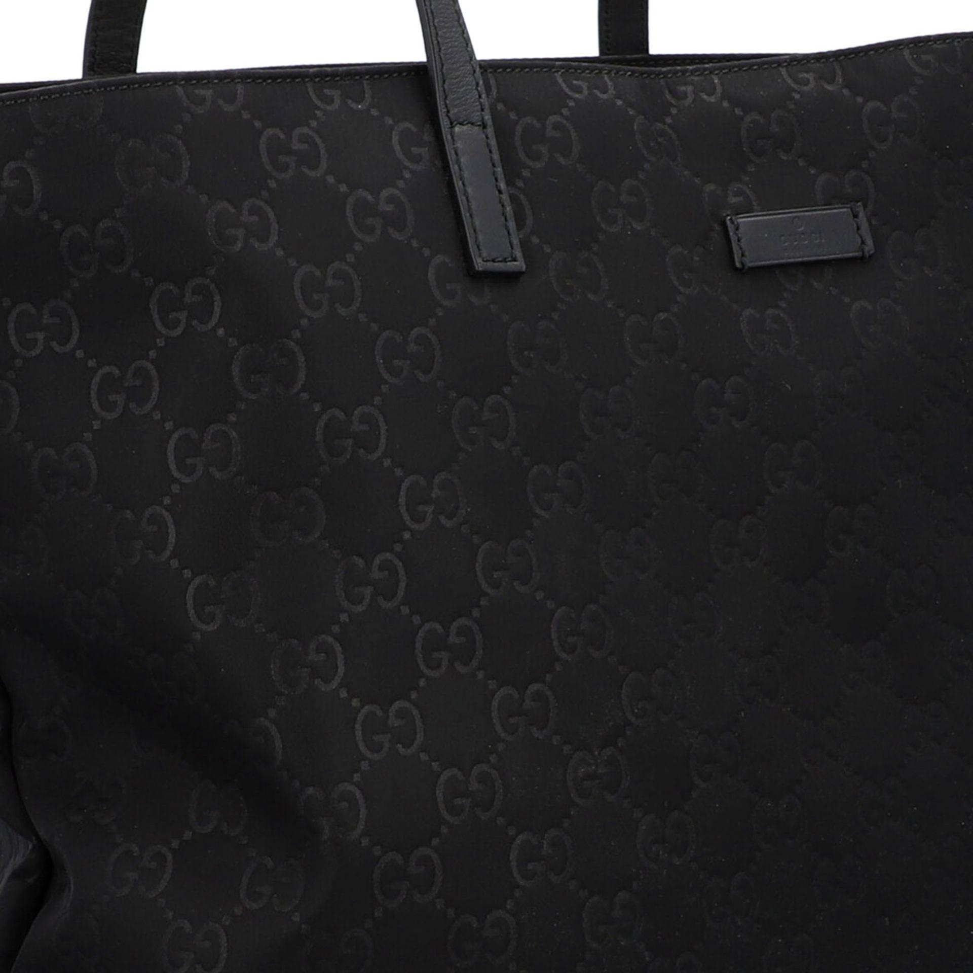 GUCCI Shoppertasche, NP. ca.: 1.000,-€. Textil in Schwarz mit GG-Supreme Muster und - Image 8 of 8