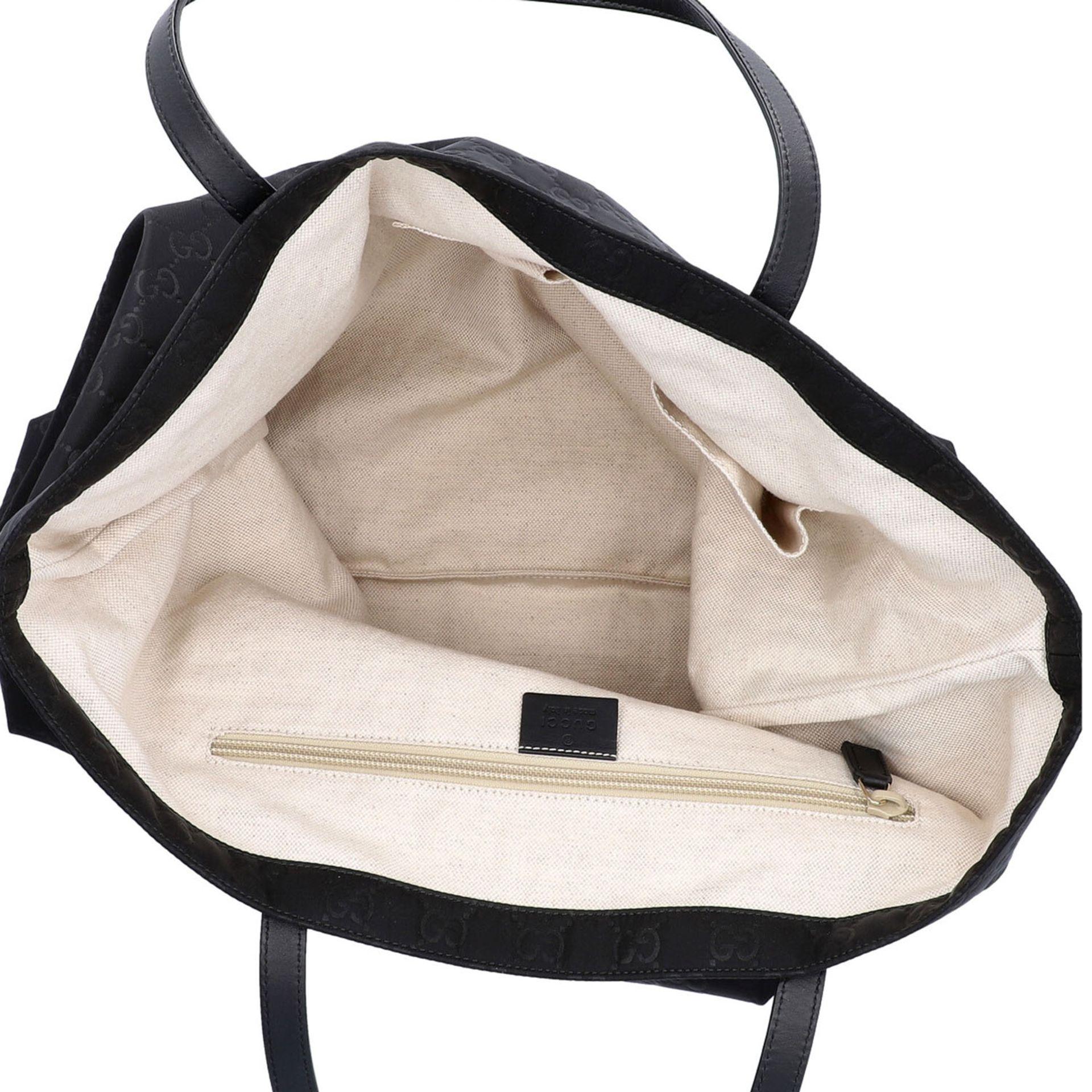 GUCCI Shoppertasche, NP. ca.: 1.000,-€. Textil in Schwarz mit GG-Supreme Muster und - Image 6 of 8