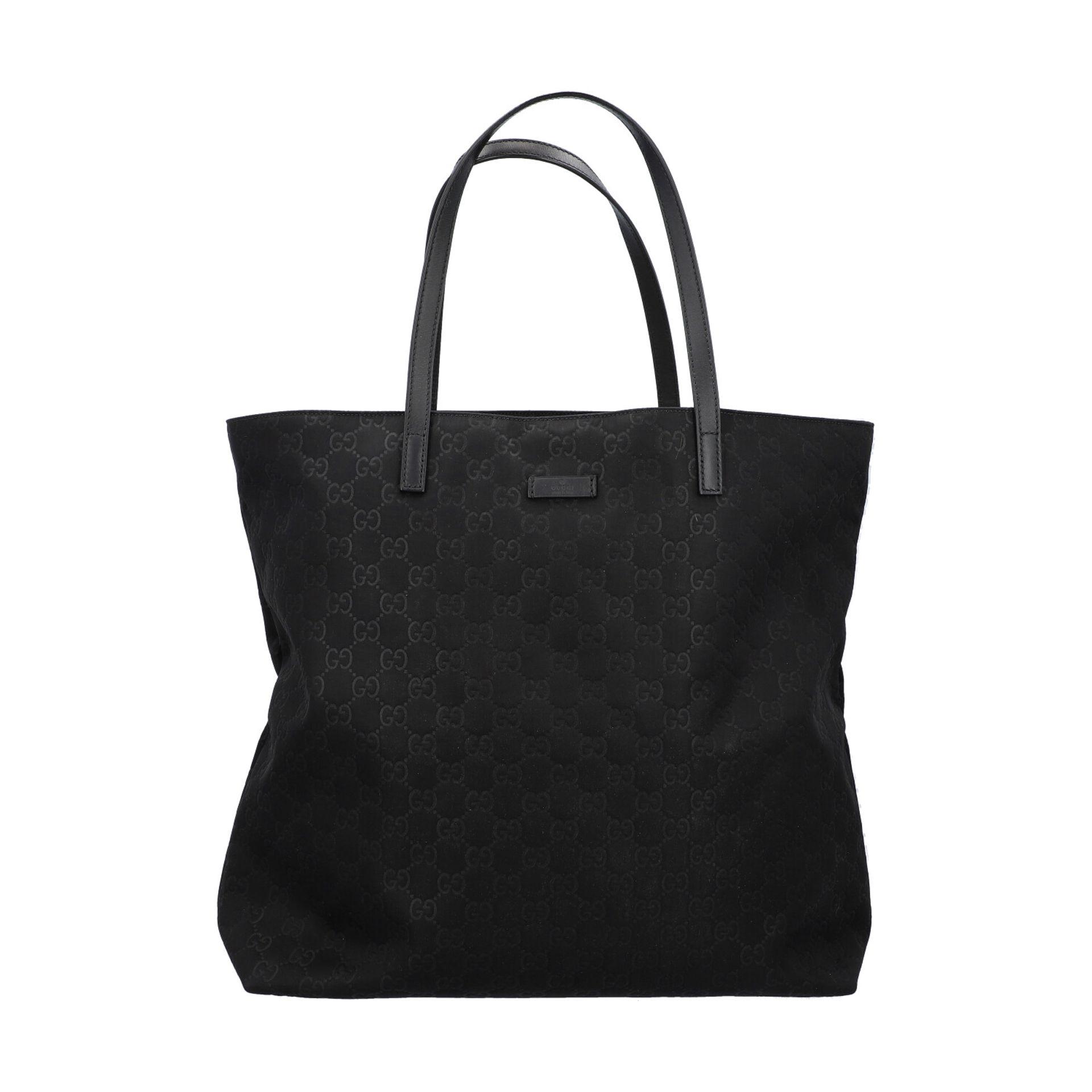 GUCCI Shoppertasche, NP. ca.: 1.000,-€. Textil in Schwarz mit GG-Supreme Muster und