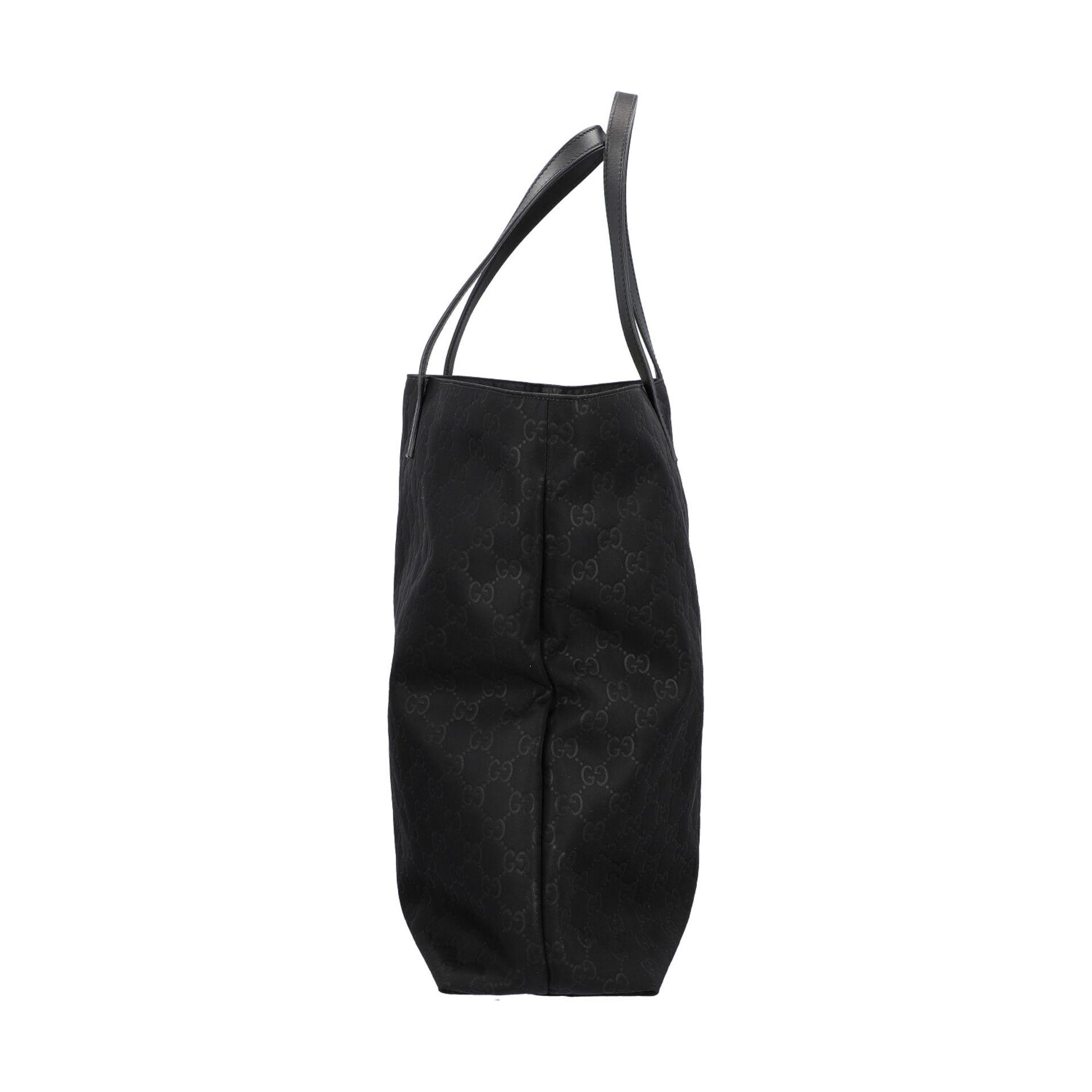 GUCCI Shoppertasche, NP. ca.: 1.000,-€. Textil in Schwarz mit GG-Supreme Muster und - Image 3 of 8