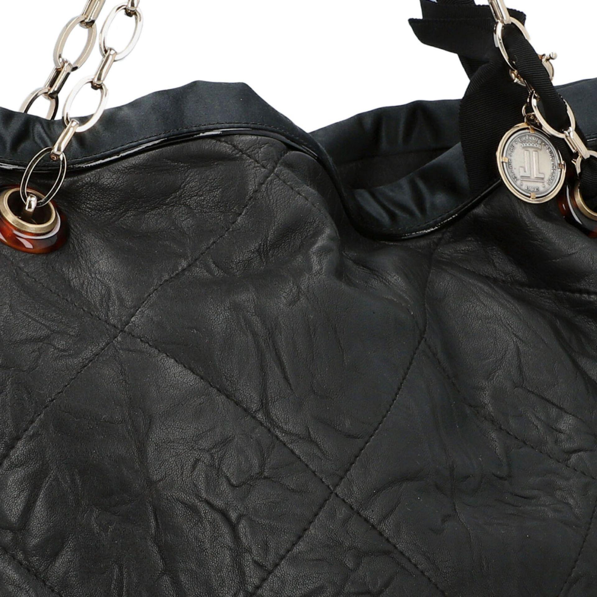 LANVIN Shoppertasche. Softes Leder in Schwarz mit Rautensteppung und dekorativen Trage - Image 8 of 8