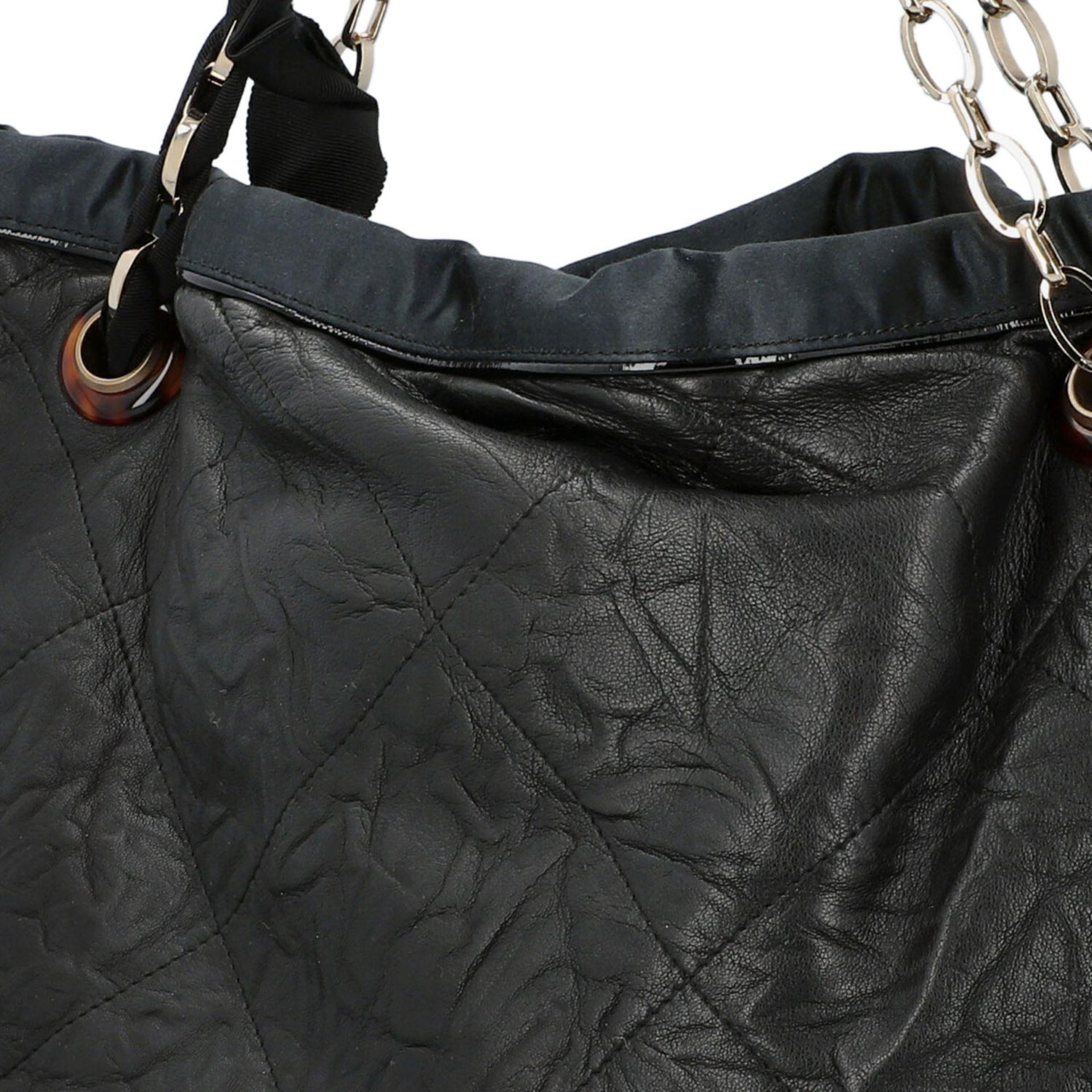LANVIN Shoppertasche. Softes Leder in Schwarz mit Rautensteppung und dekorativen Trage - Image 7 of 8