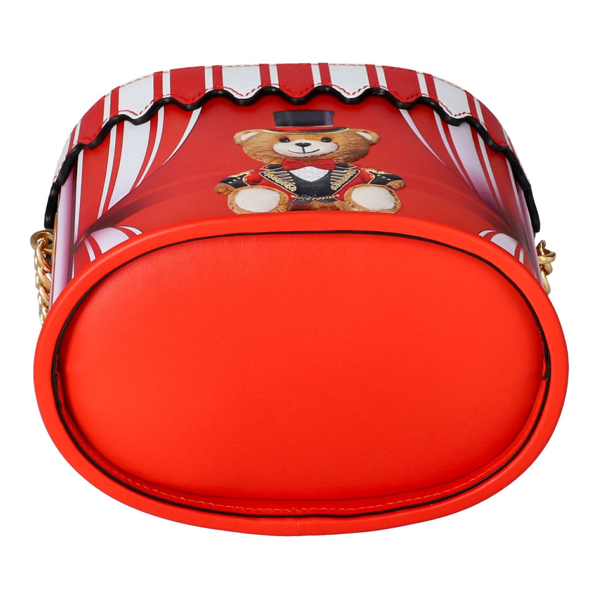"""MOSCHINO COUTURE Handtasche """"CIRCUS BAG"""", NP.: 1.100,-€. Kalbsleder in Zirkus-Zelt-D - Image 5 of 7"""