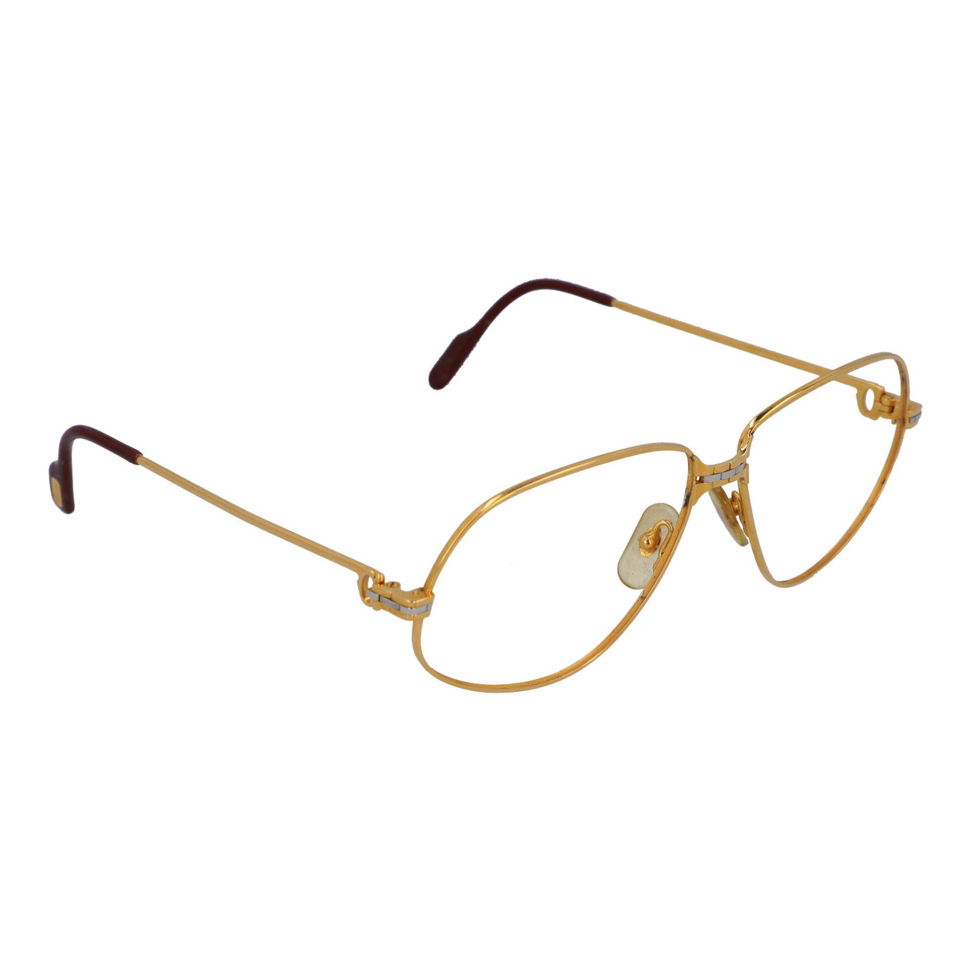 "CARTIER Brillengestell ""PANTHERE"", Koll.: 1988 in Paris. Vergoldetes Modell ohne Gläs - Image 2 of 4"