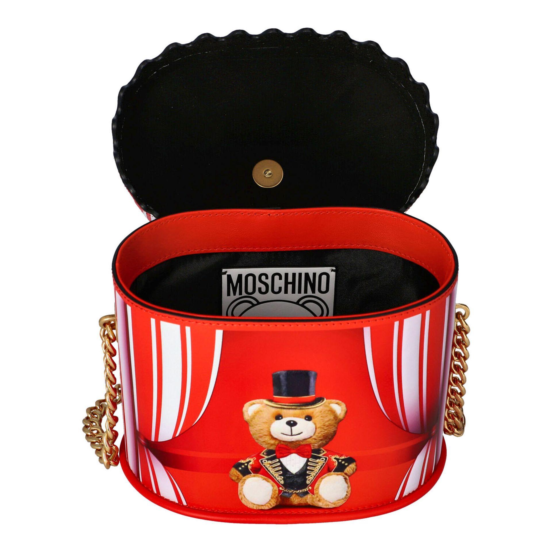 """MOSCHINO COUTURE Handtasche """"CIRCUS BAG"""", NP.: 1.100,-€. Kalbsleder in Zirkus-Zelt-D - Image 6 of 7"""