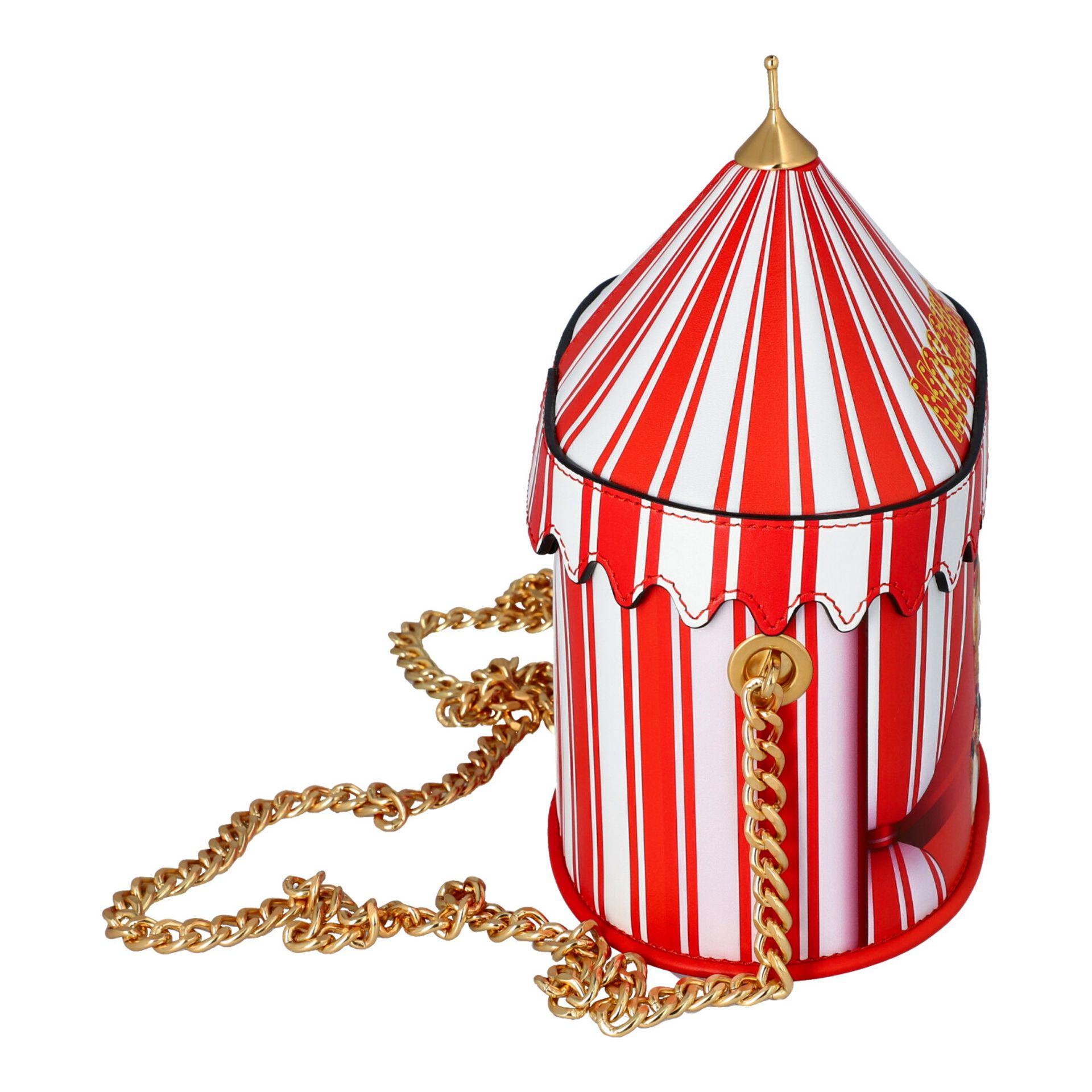 """MOSCHINO COUTURE Handtasche """"CIRCUS BAG"""", NP.: 1.100,-€. Kalbsleder in Zirkus-Zelt-D - Image 3 of 7"""
