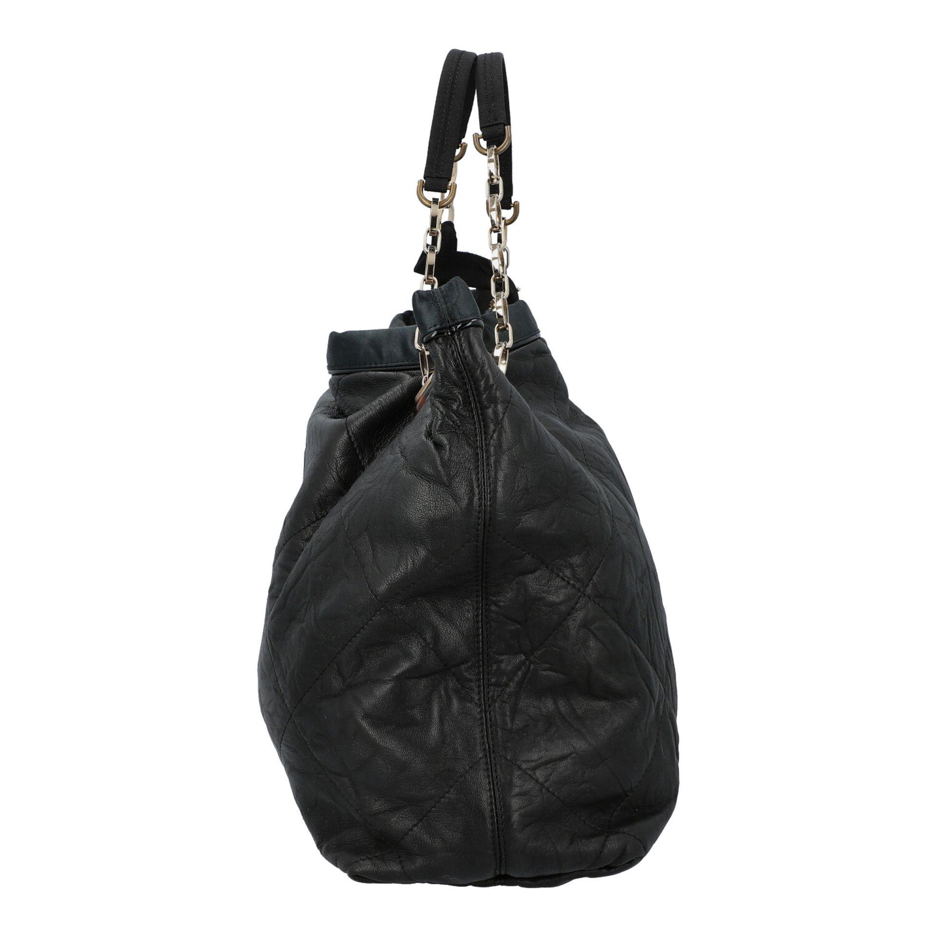 LANVIN Shoppertasche. Softes Leder in Schwarz mit Rautensteppung und dekorativen Trage - Image 3 of 8