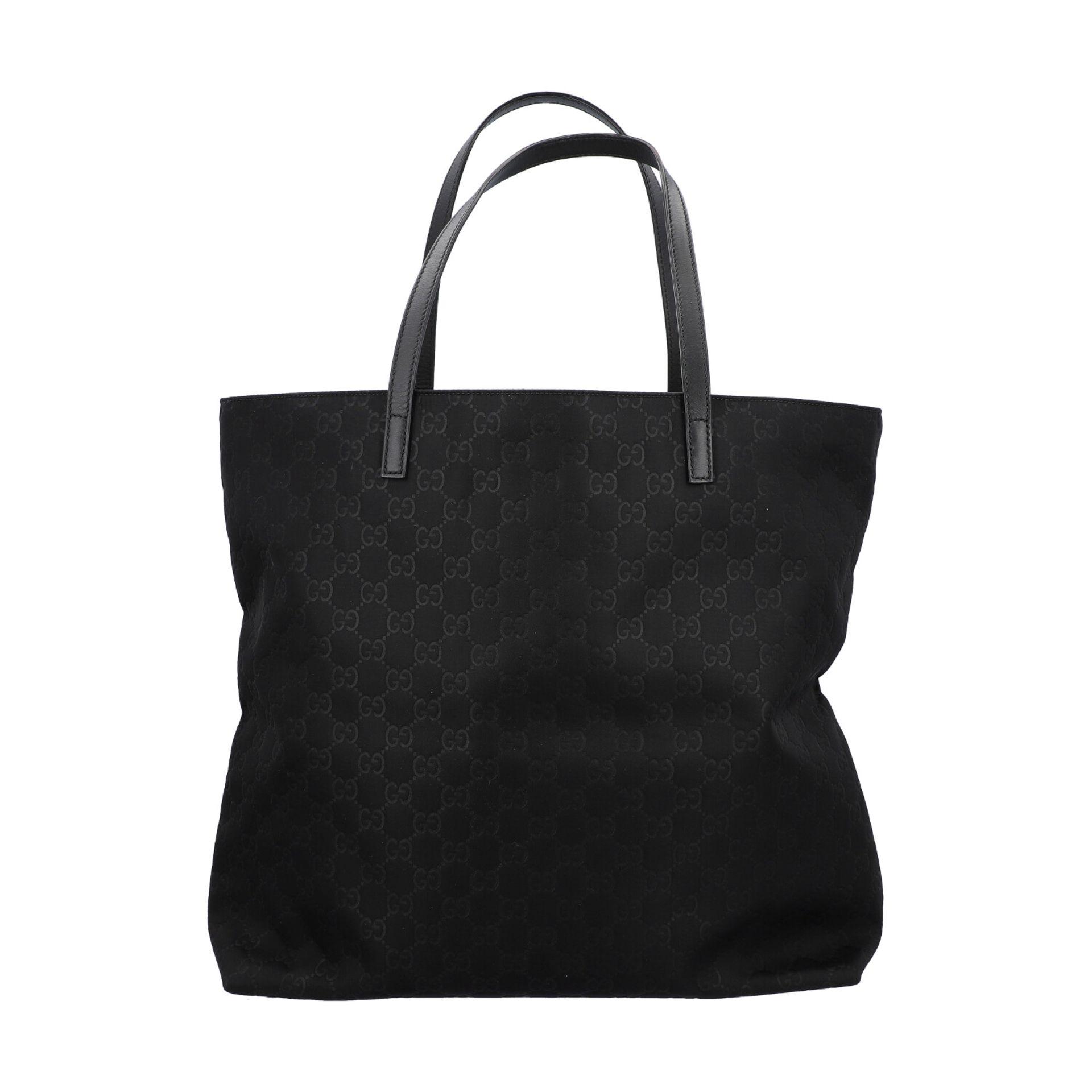 GUCCI Shoppertasche, NP. ca.: 1.000,-€. Textil in Schwarz mit GG-Supreme Muster und - Image 4 of 8